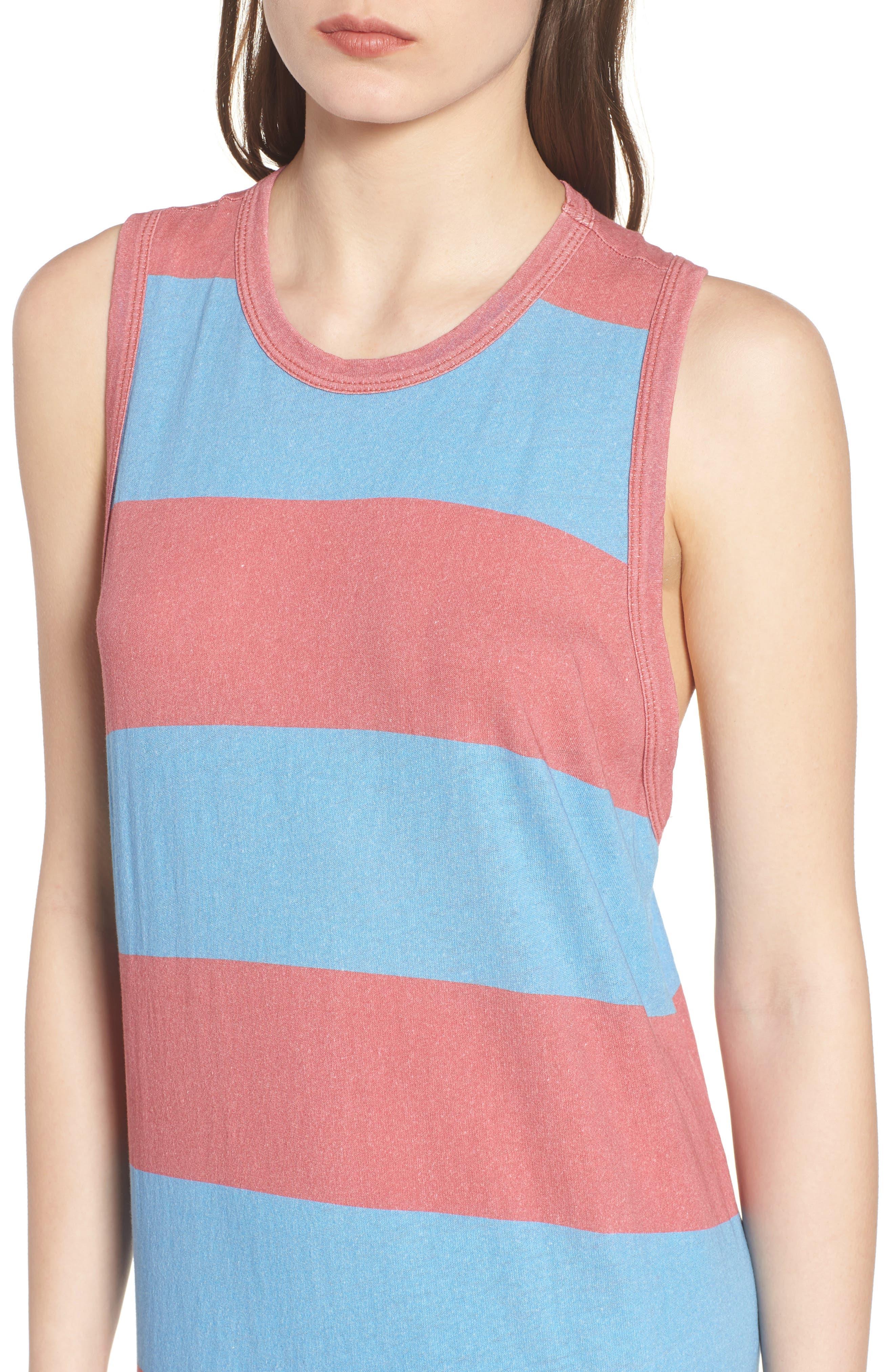 Stripe Muscle Maxi Dress,                             Alternate thumbnail 4, color,
