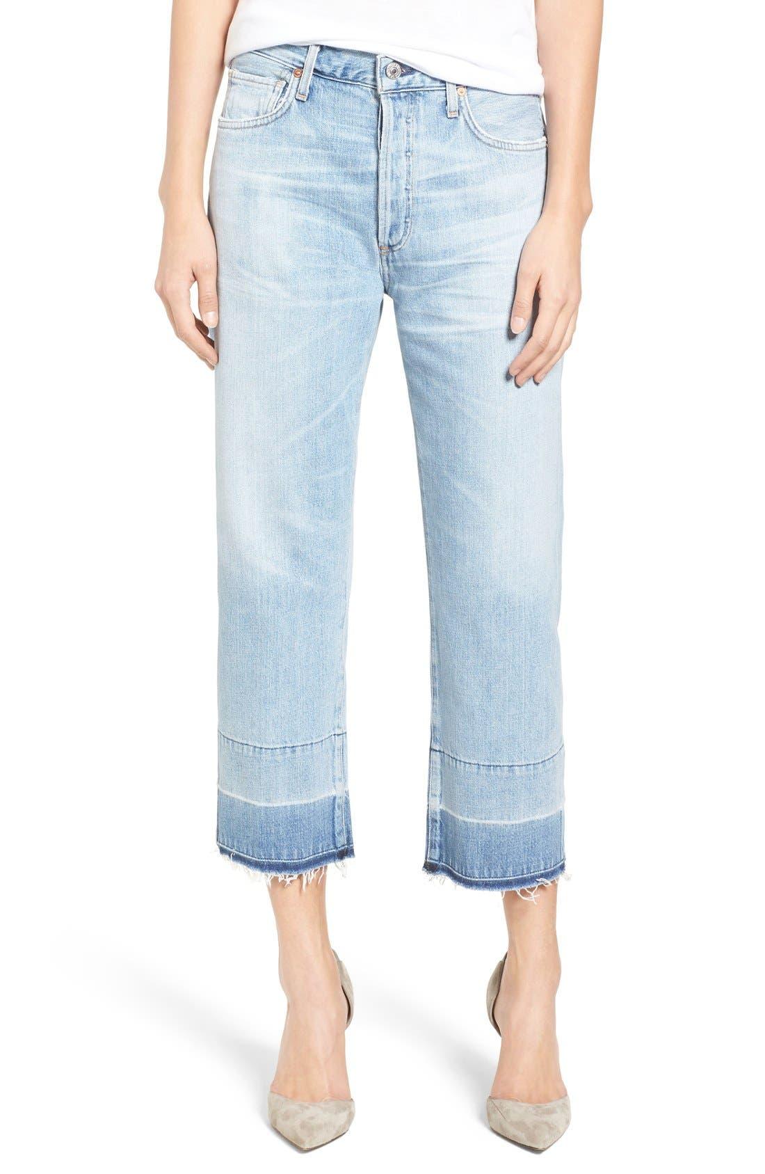 Cora High Waist Released Hem Boyfriend Jeans,                         Main,                         color, 454