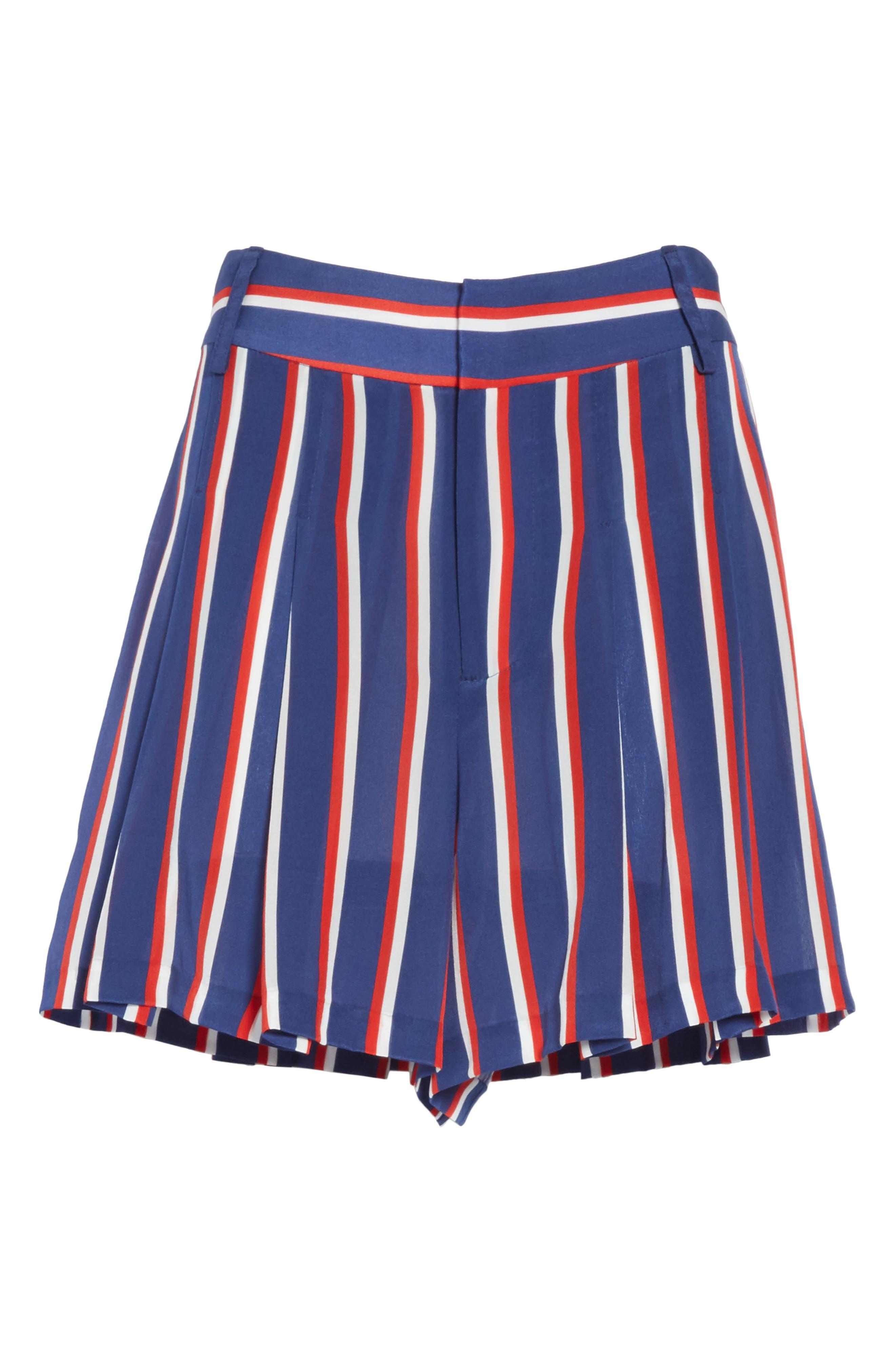 Scarlet Super High Waist Flutter Shorts,                             Alternate thumbnail 6, color,                             475