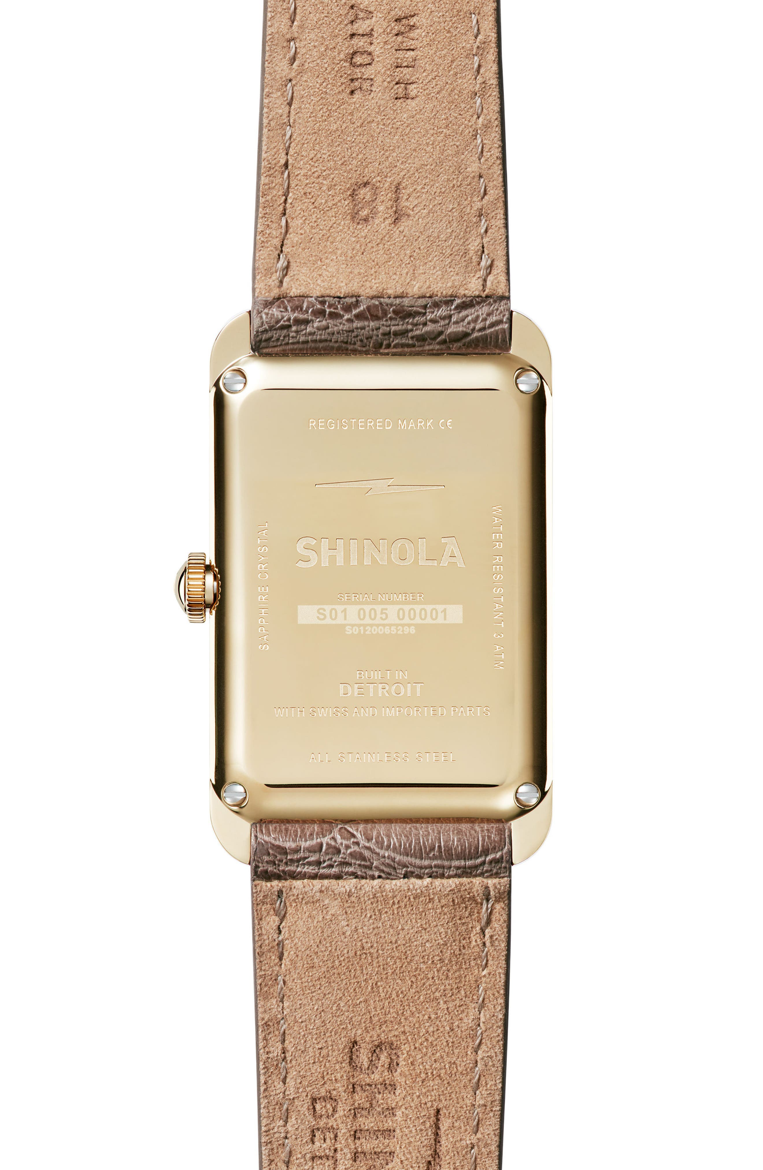 The Muldowney Rectangular Leather Strap Watch, 24mm x 32mm,                             Alternate thumbnail 8, color,
