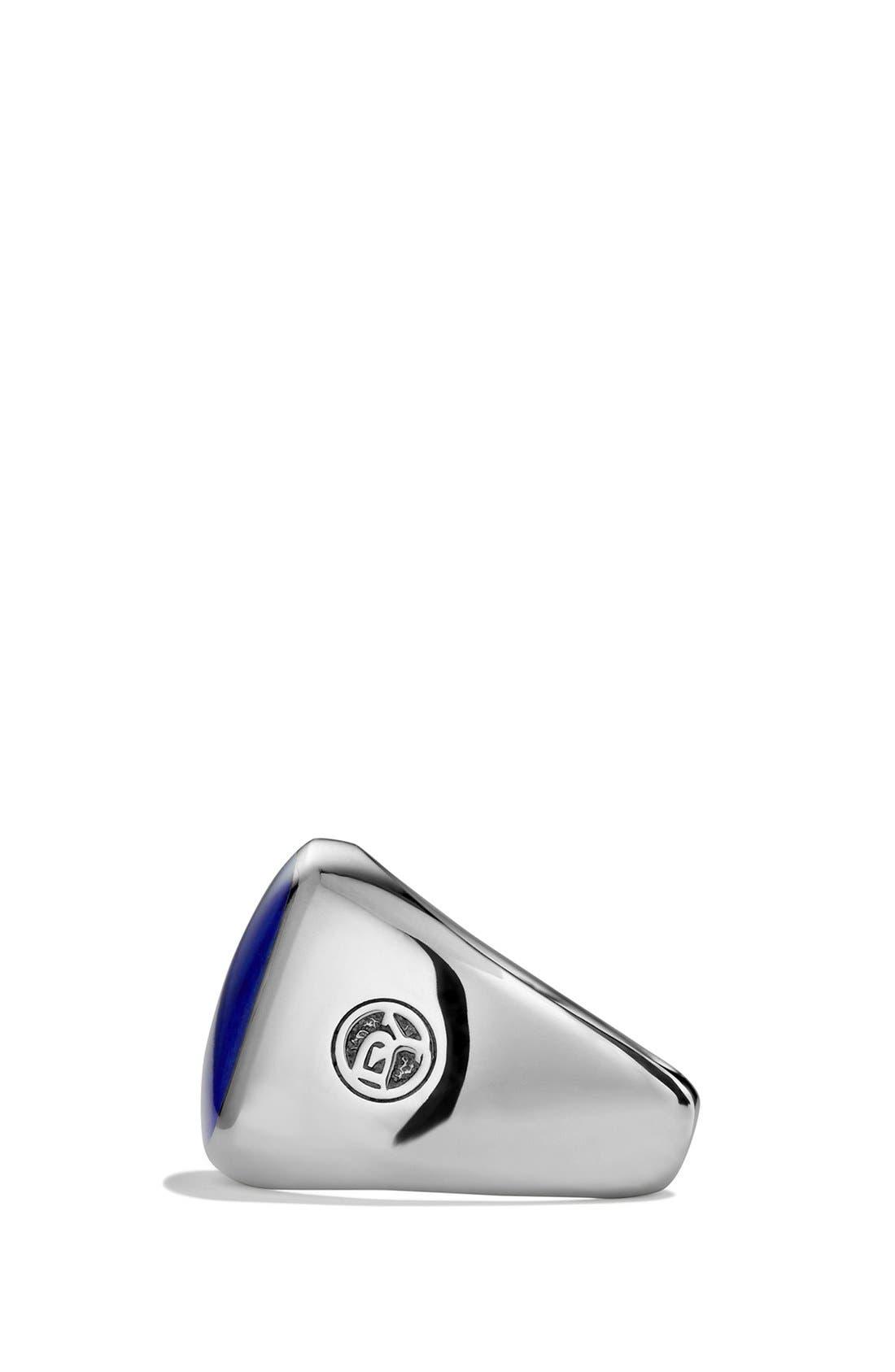 'Chevron' Signet Ring,                             Alternate thumbnail 14, color,