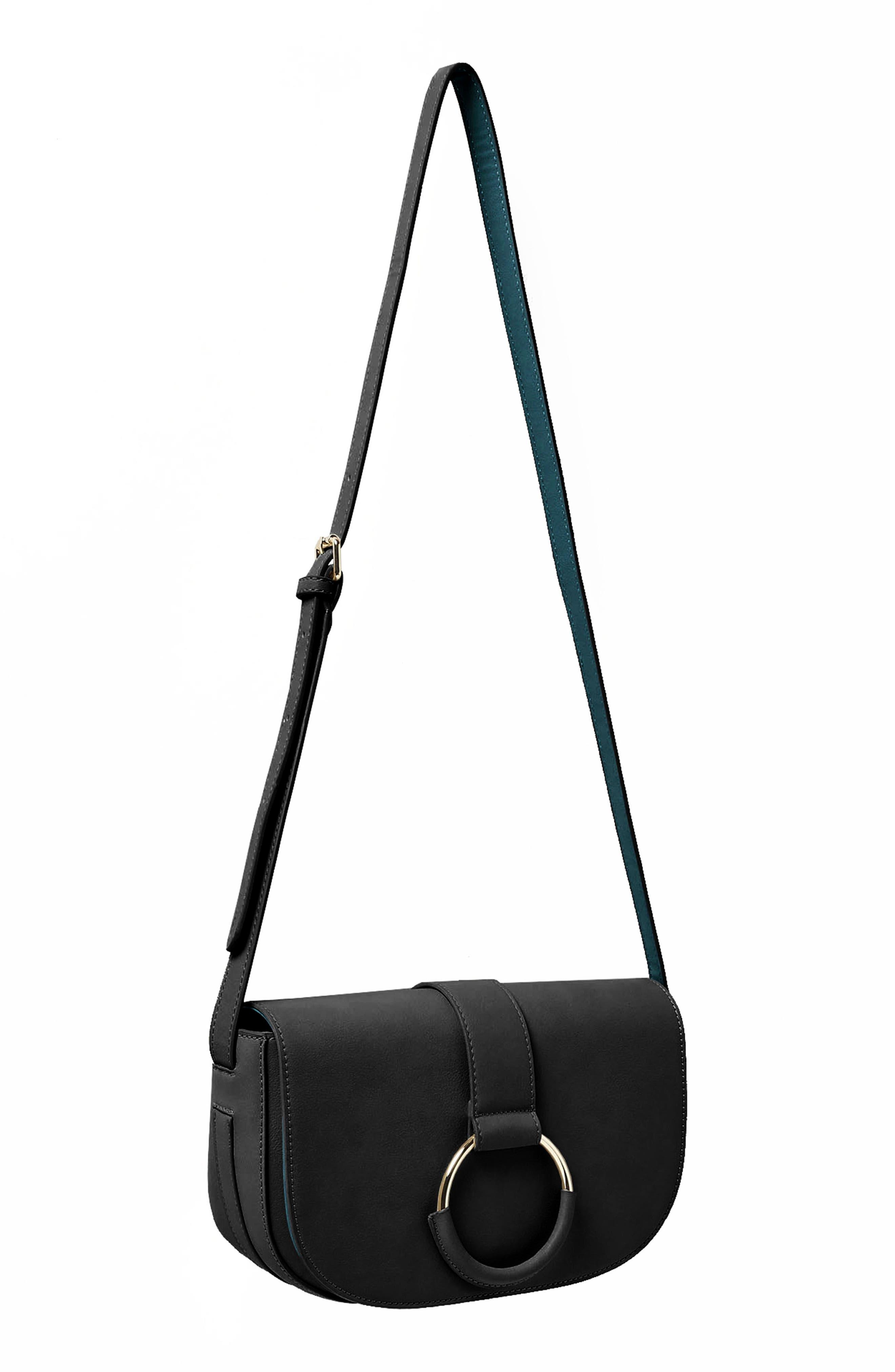 URBAN ORIGINALS,                             Lolita Vegan Leather Crossbody Bag,                             Alternate thumbnail 3, color,                             001
