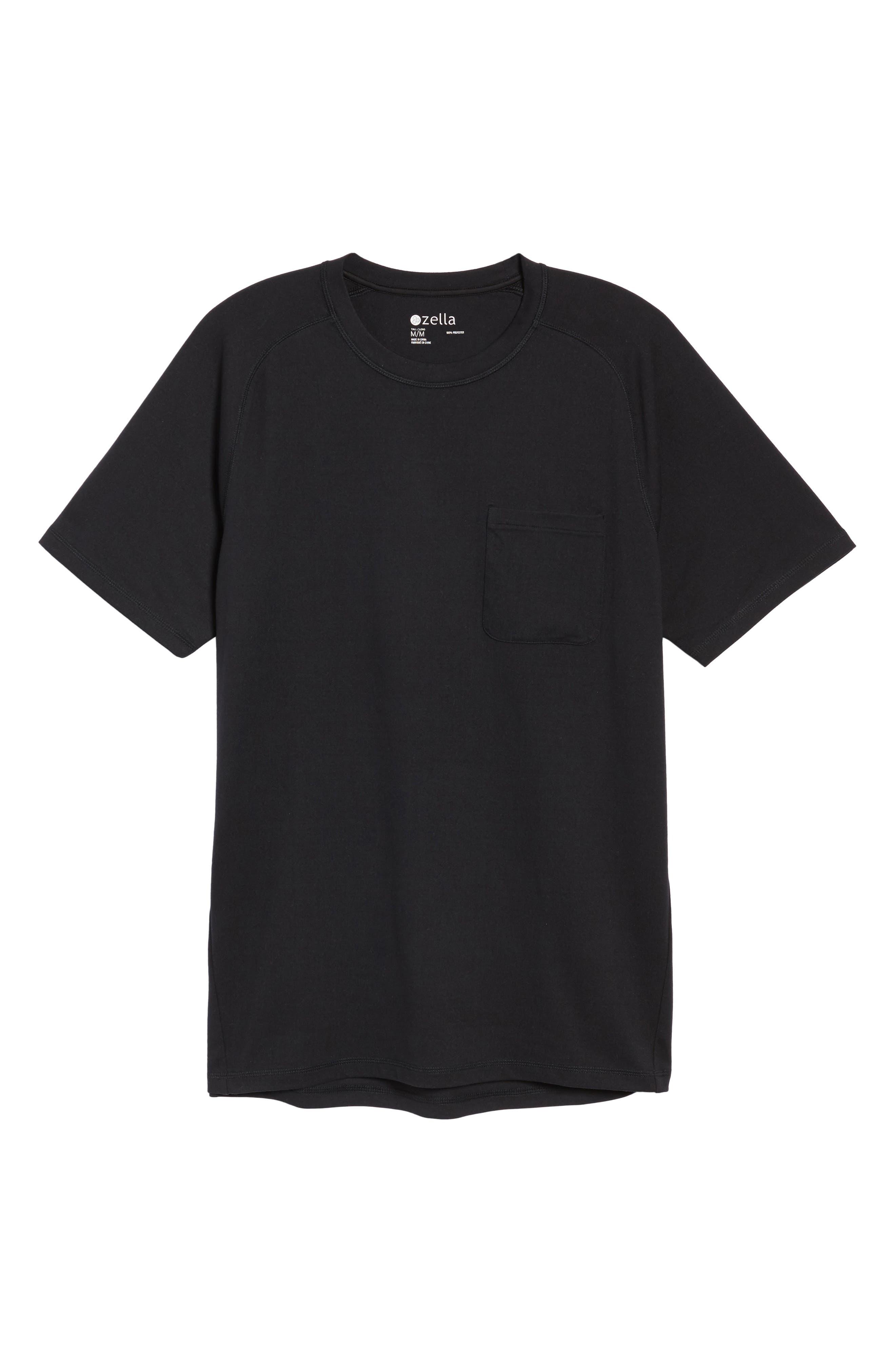 Longline Crewneck T-Shirt,                             Alternate thumbnail 6, color,                             001