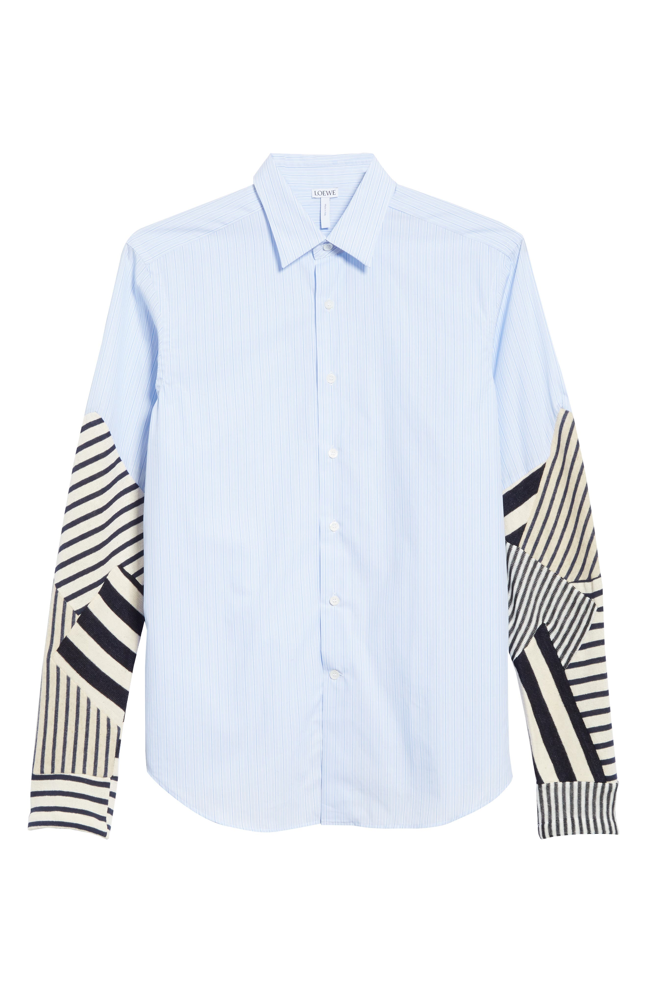 Patchwork Sleeve Shirt,                             Alternate thumbnail 6, color,                             112