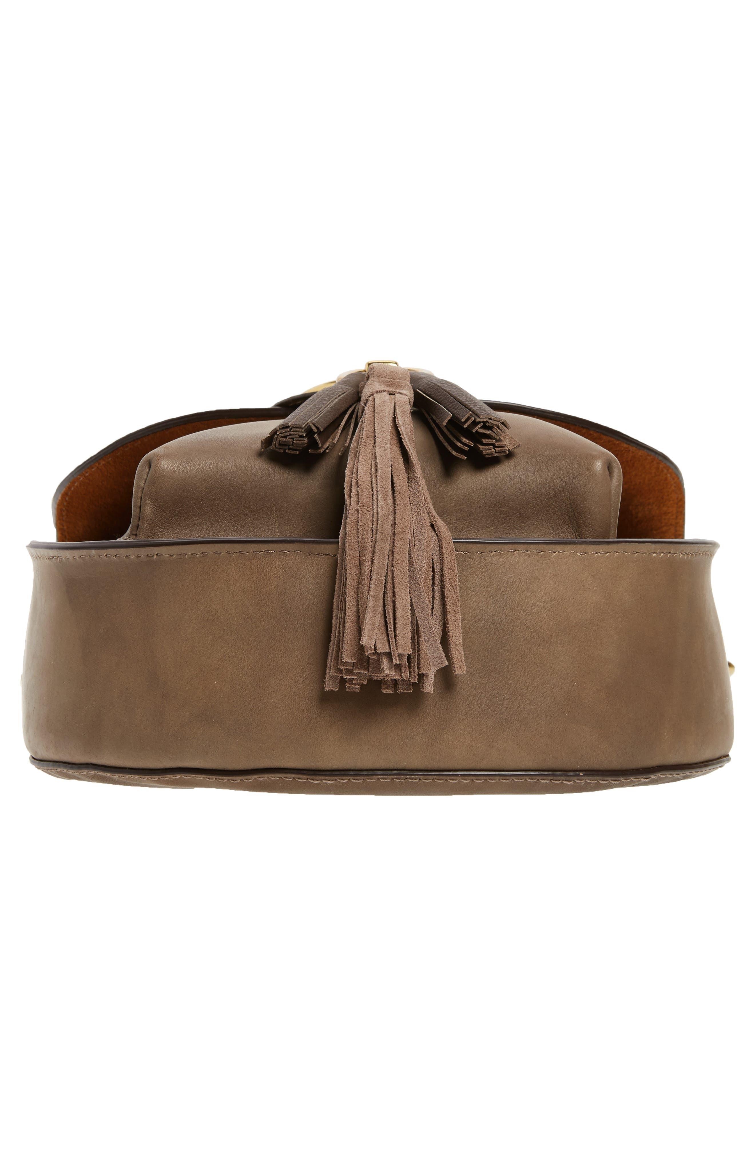 Small Ilana Harness Leather Saddle Bag,                             Alternate thumbnail 6, color,                             040