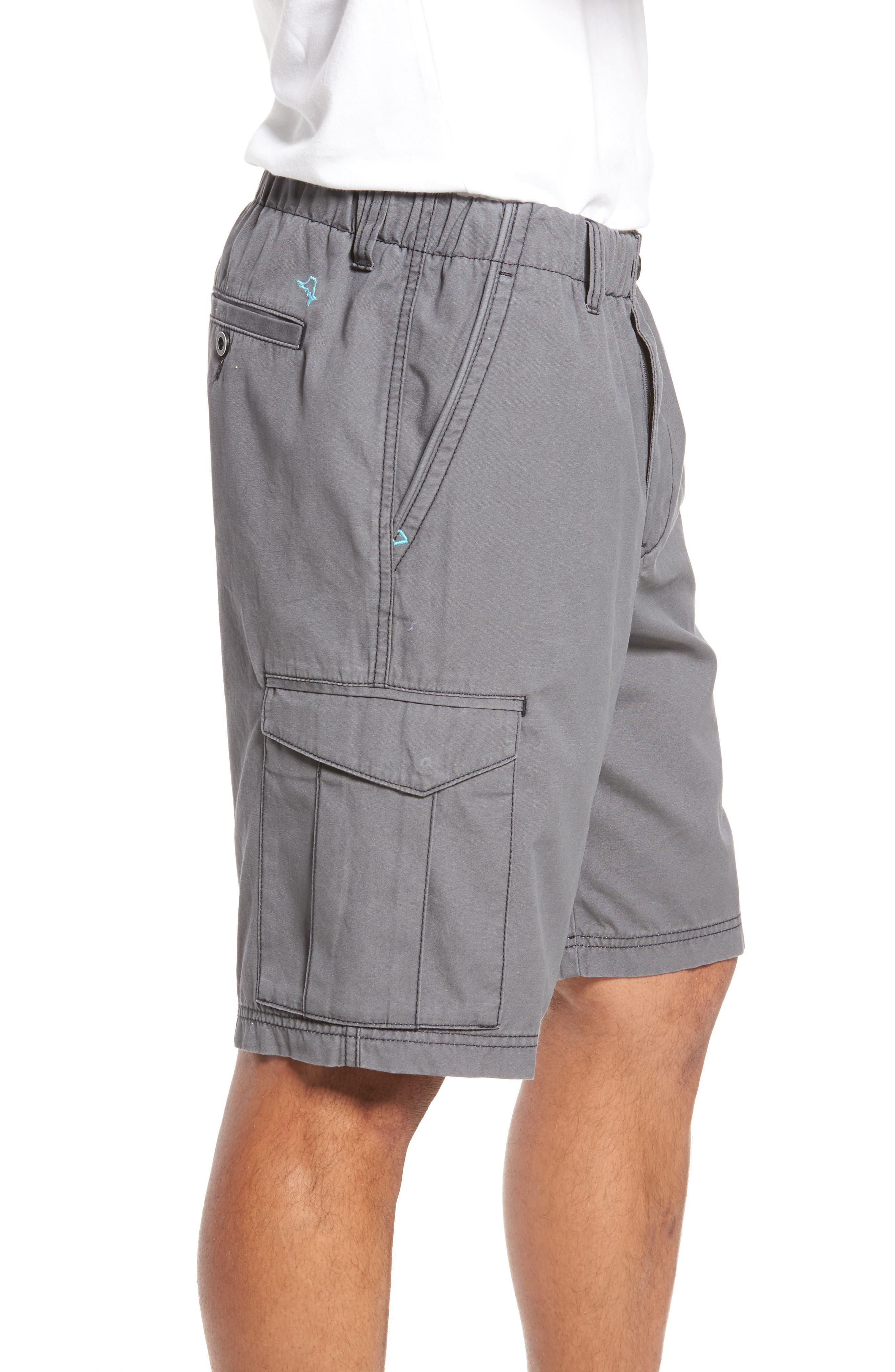 Island Survivalist Cargo Shorts,                             Alternate thumbnail 3, color,                             FOG GREY