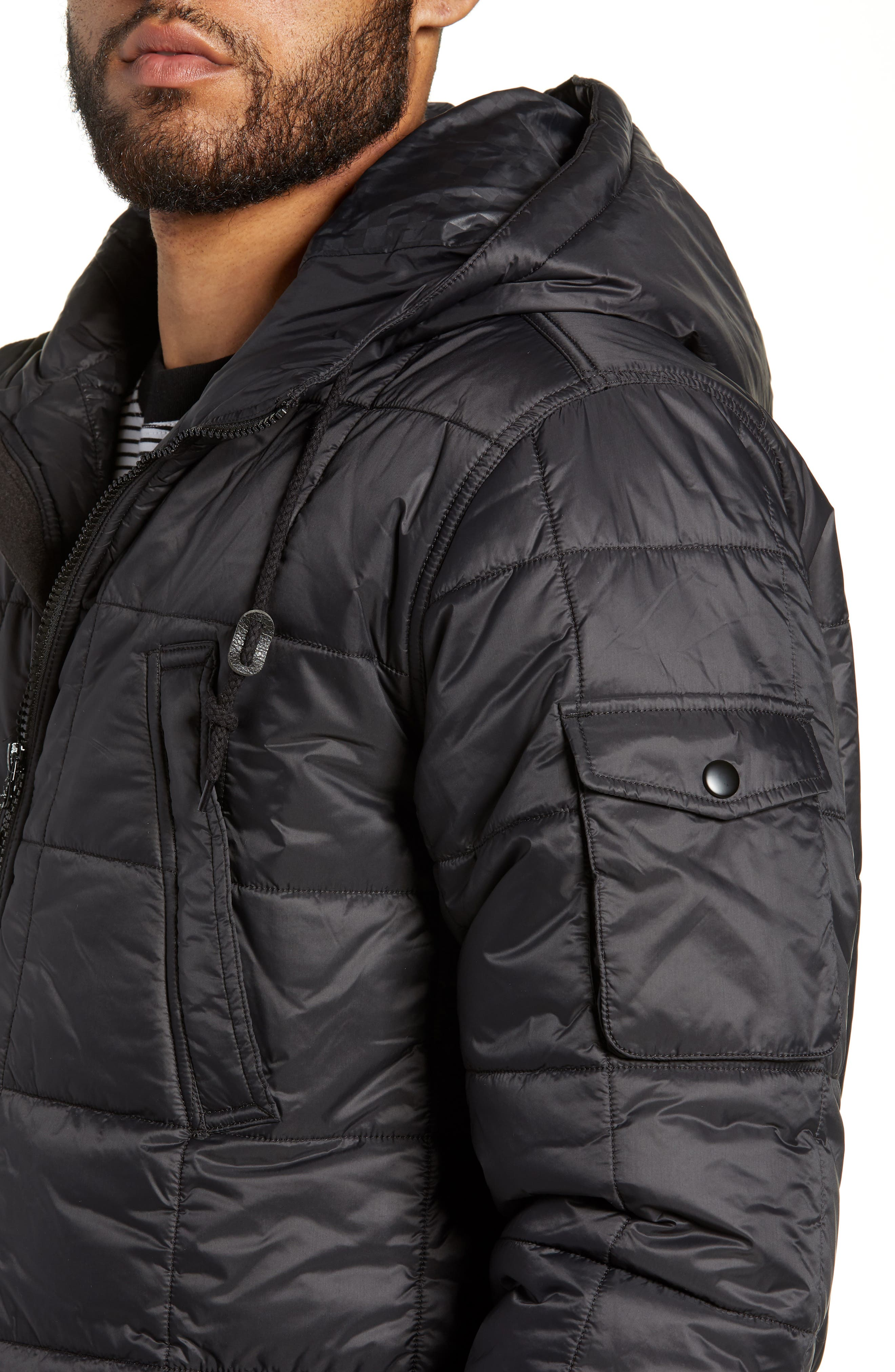 Providence MTE Quilted Jacket,                             Alternate thumbnail 4, color,                             001