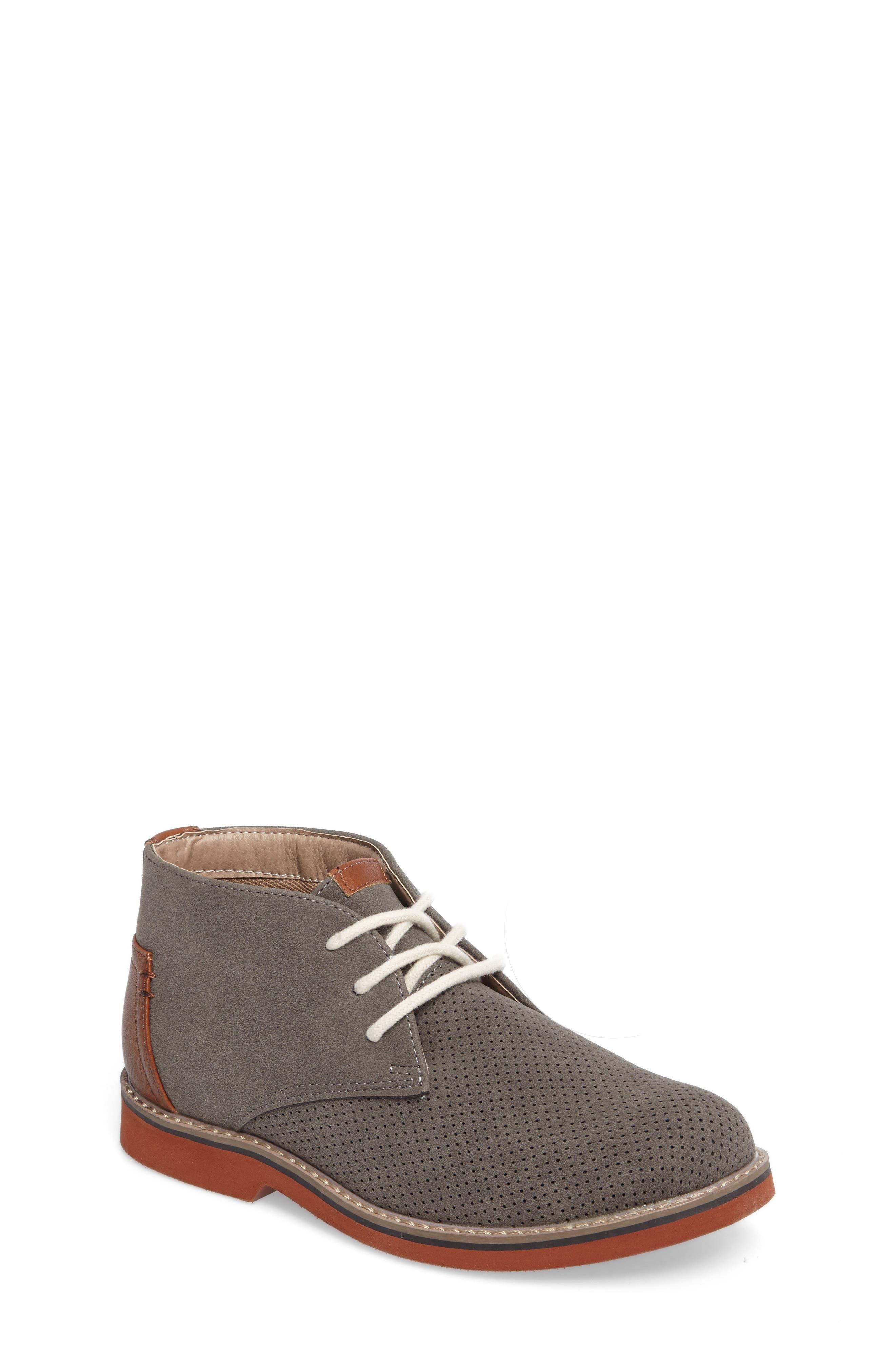 Baden Perforated Chukka Shoe,                             Main thumbnail 1, color,                             055