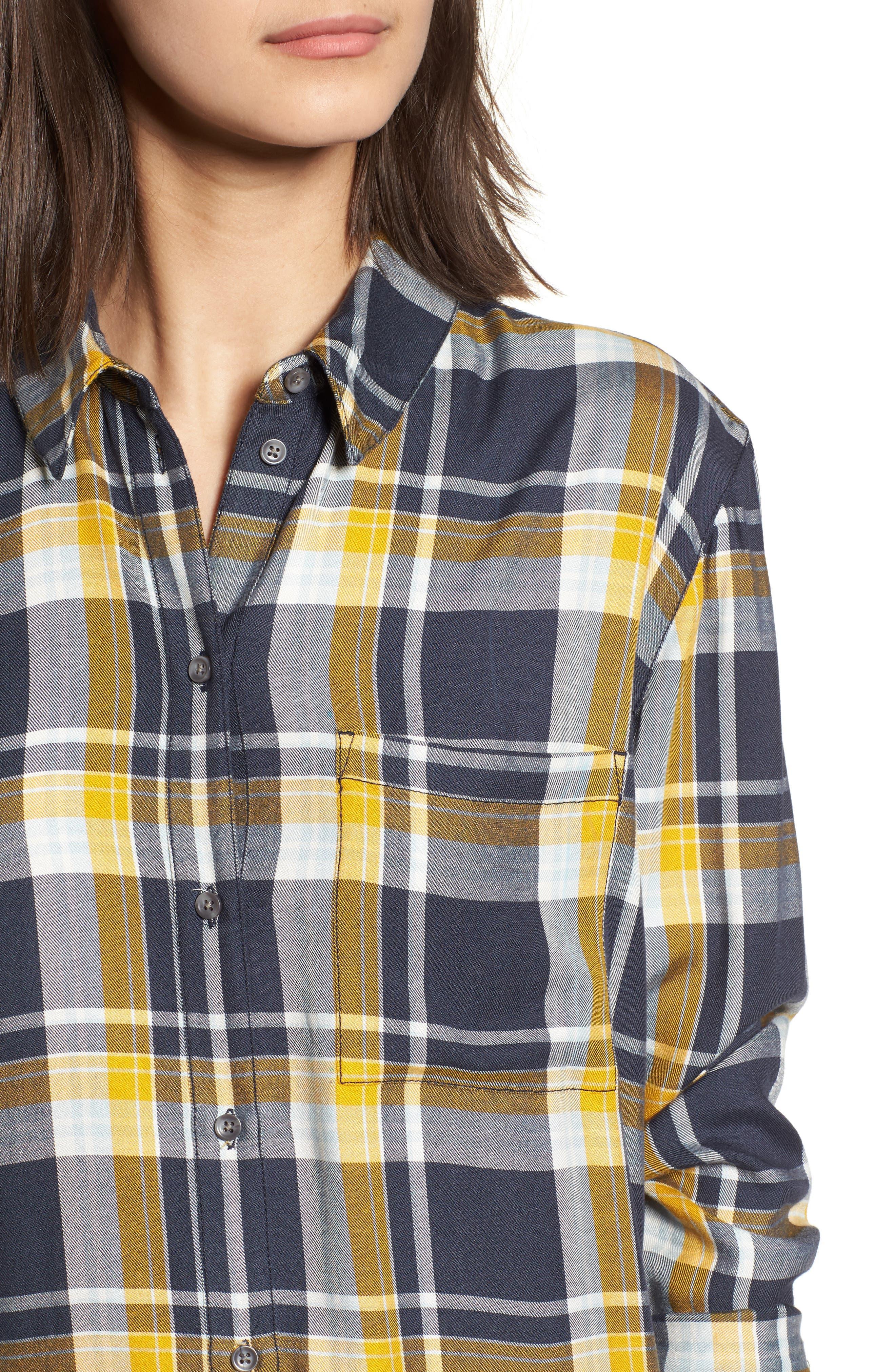 Plaid Boyfriend Shirt,                             Alternate thumbnail 17, color,