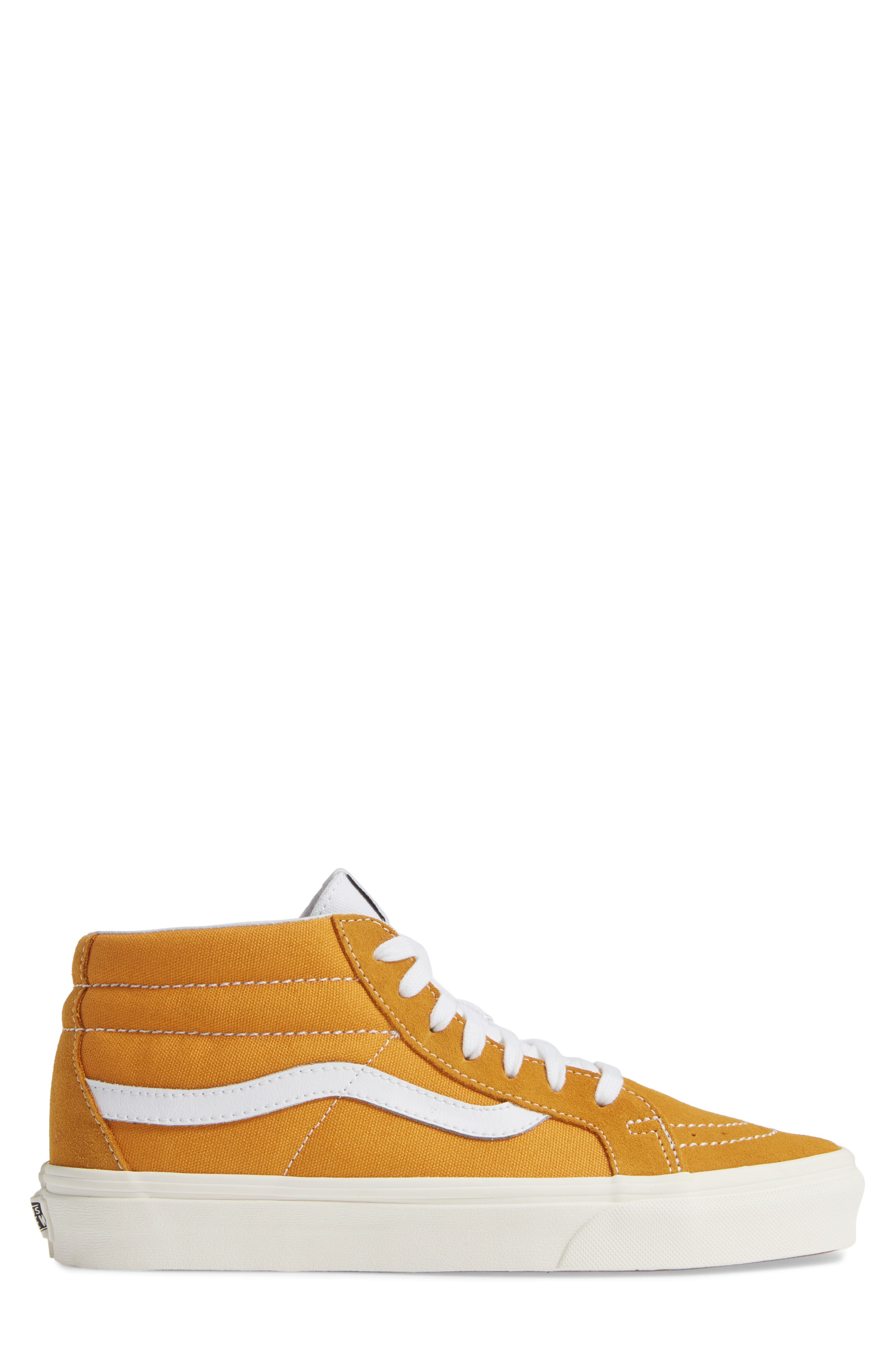 Sk8-Mid Reissue Sneaker,                             Alternate thumbnail 3, color,                             SUNFLOWER CANVAS/SUEDE