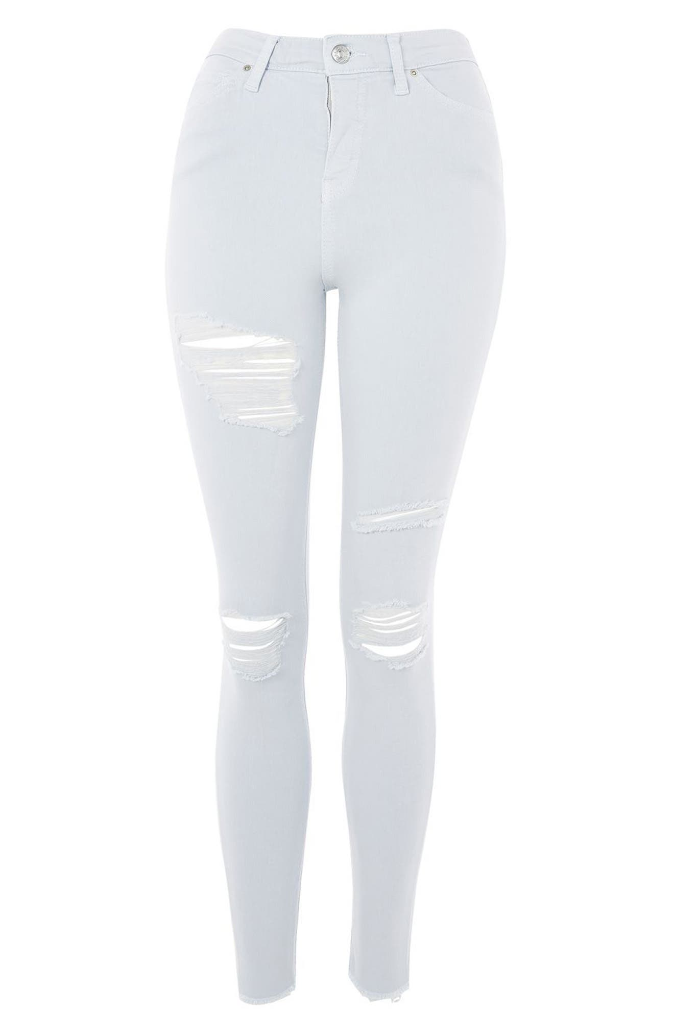 Jamie Super Rip Raw Hem Skinny Jeans,                             Alternate thumbnail 3, color,                             450