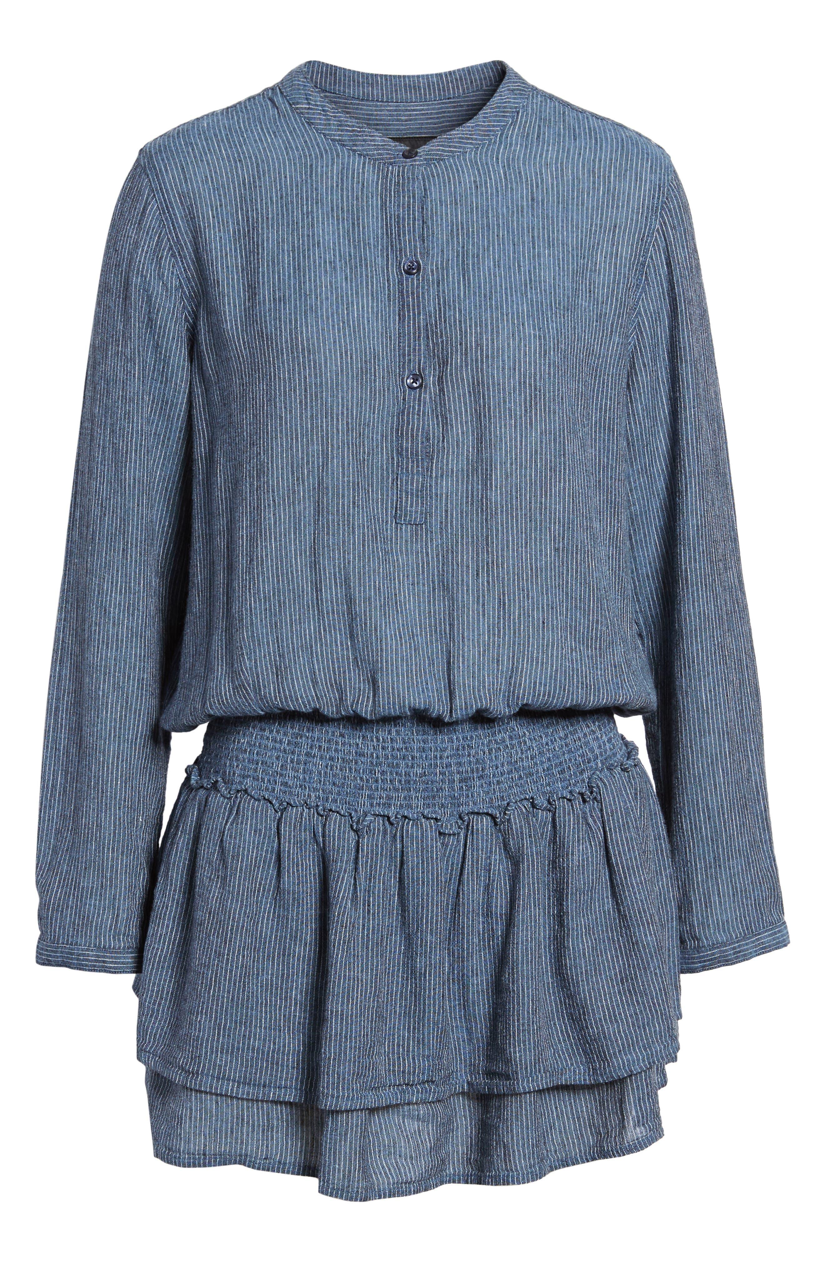 Juliette Linen Blend Dress,                             Alternate thumbnail 6, color,                             400