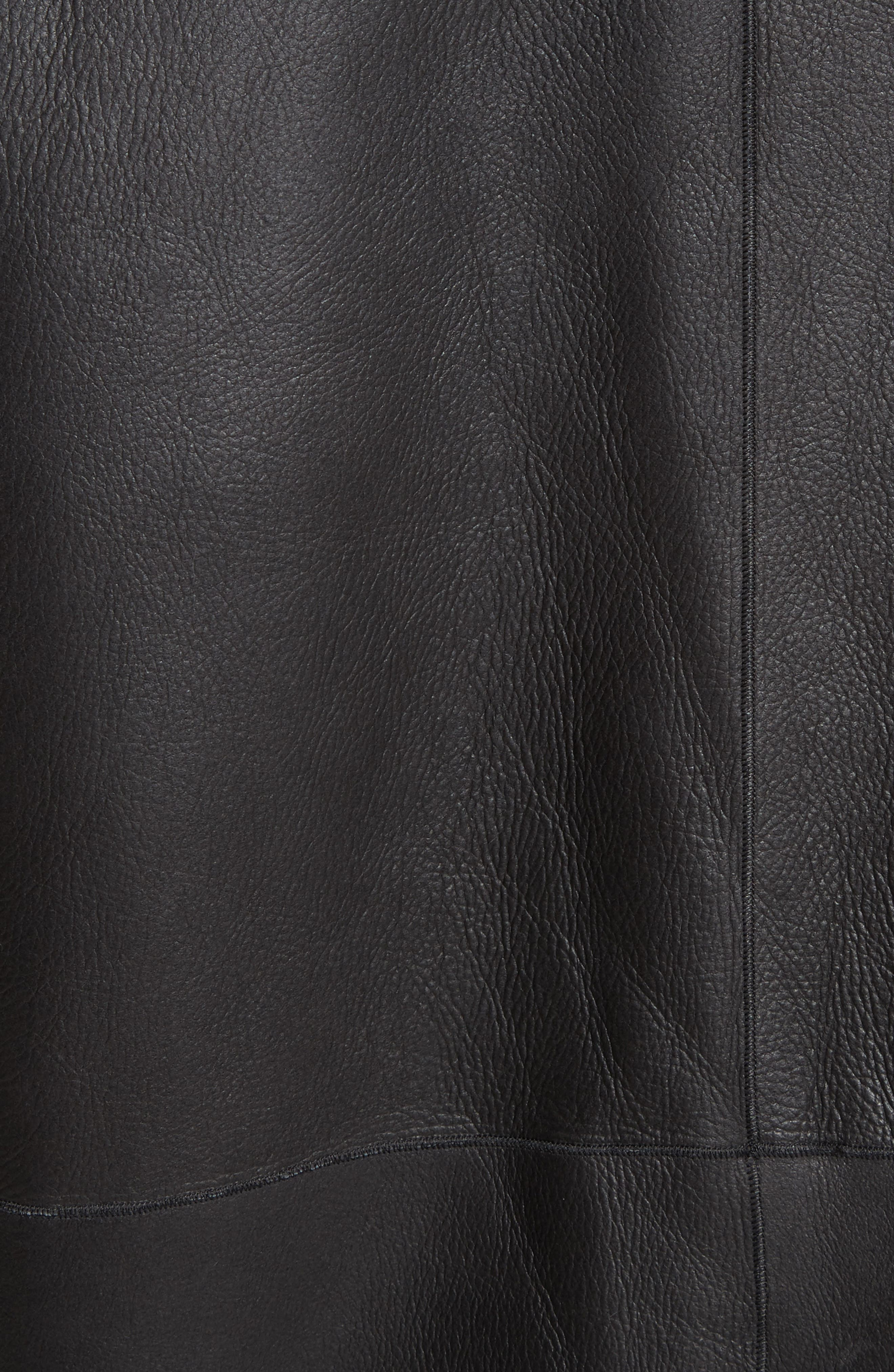 Shawl Collar Genuine Shearling Reversible Coat,                             Alternate thumbnail 6, color,                             012
