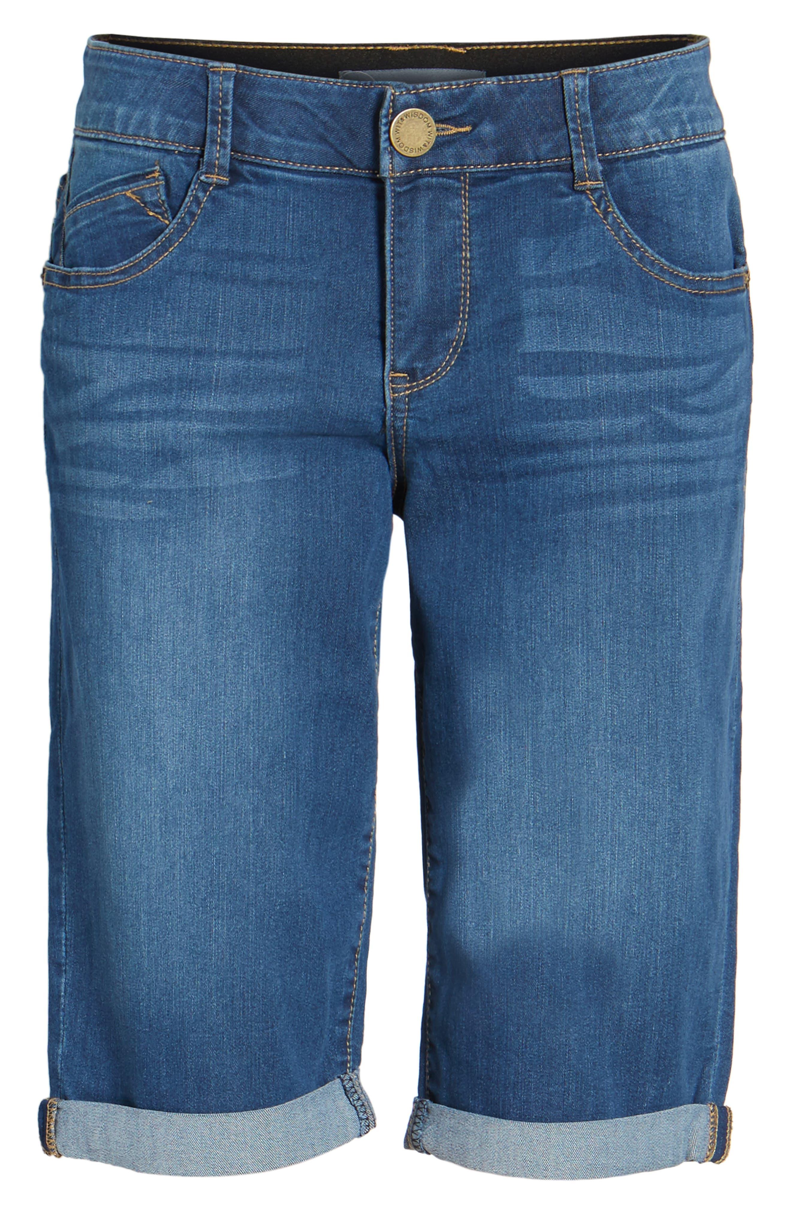Ab-solution Denim Bermuda Shorts,                             Alternate thumbnail 6, color,                             420