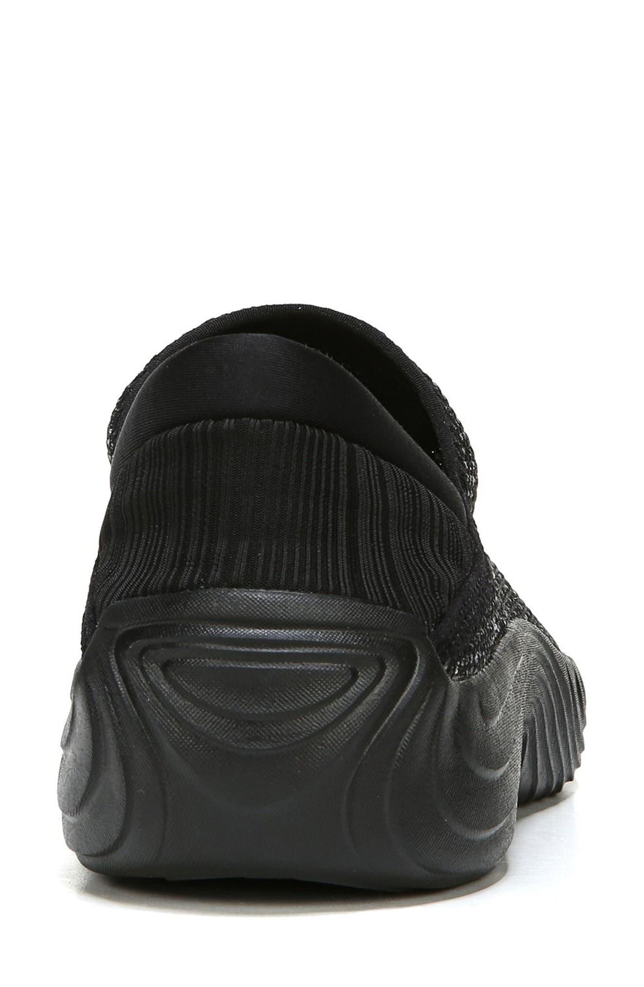 Topaz Slip-On Sneaker,                             Alternate thumbnail 7, color,                             BLACK FABRIC