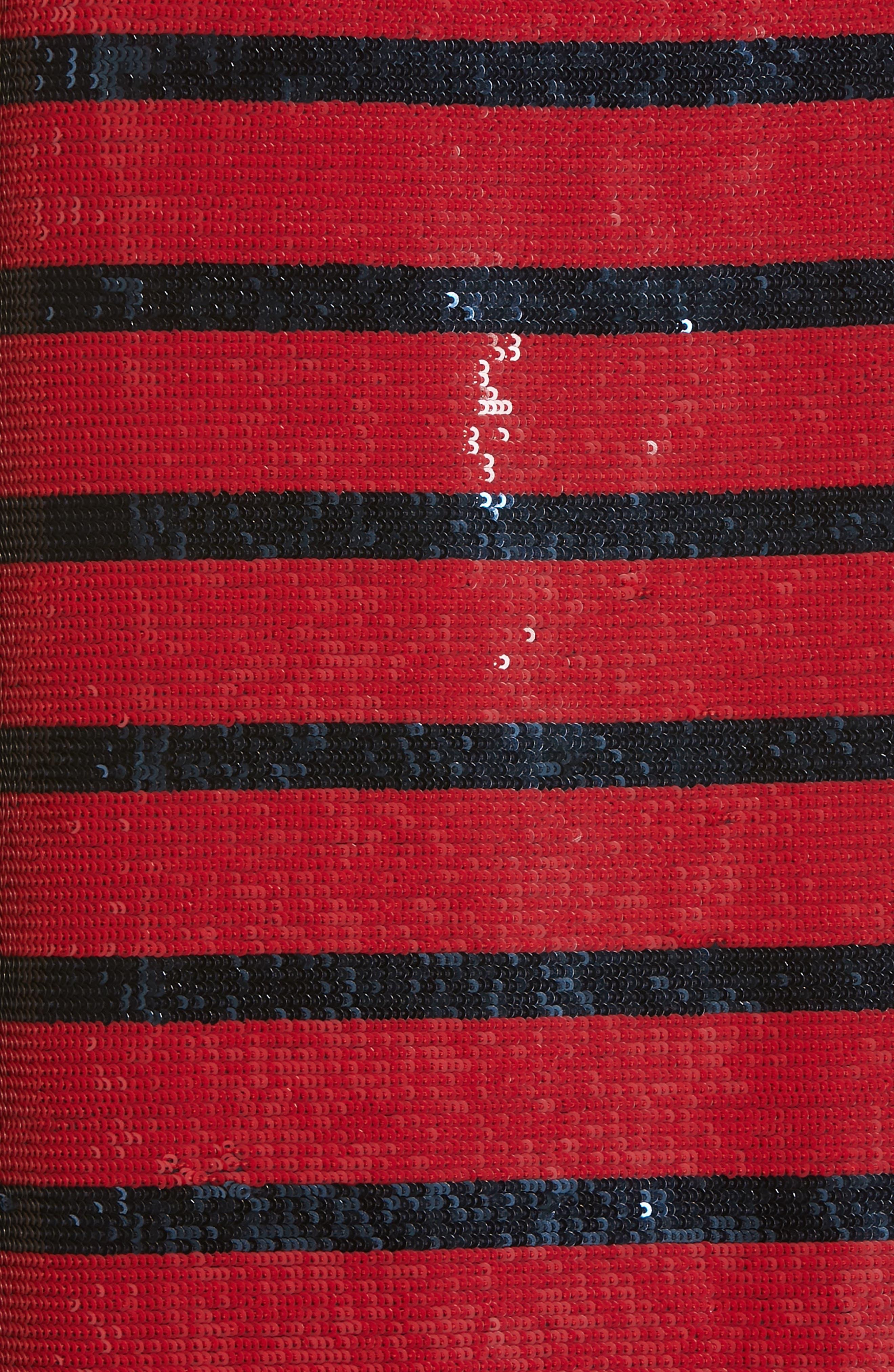 Stripe Sequin Tank Top,                             Alternate thumbnail 5, color,                             RED/ NAVY STRIPE