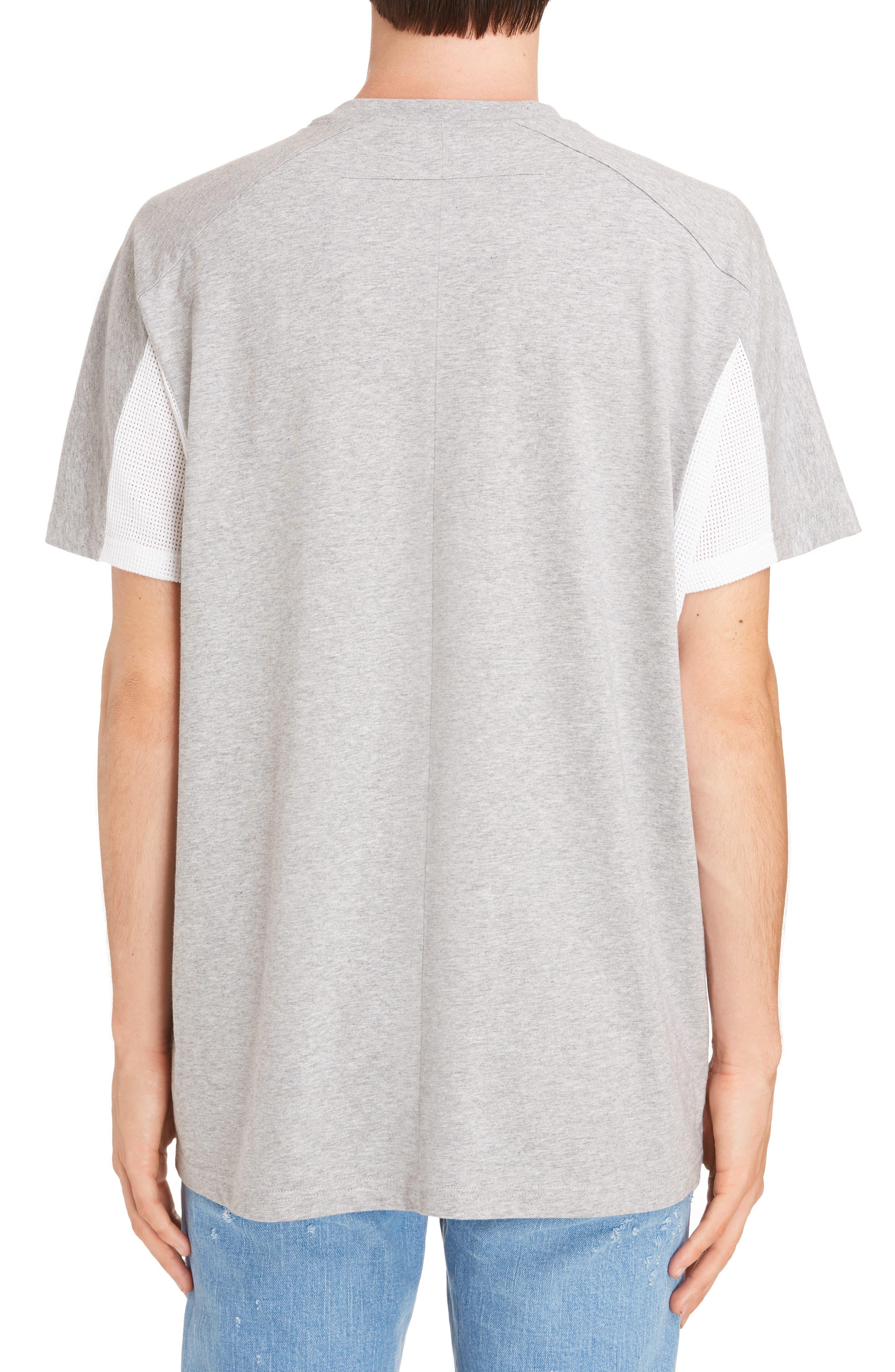 Mesh Jersey Crewneck T-Shirt,                             Alternate thumbnail 2, color,