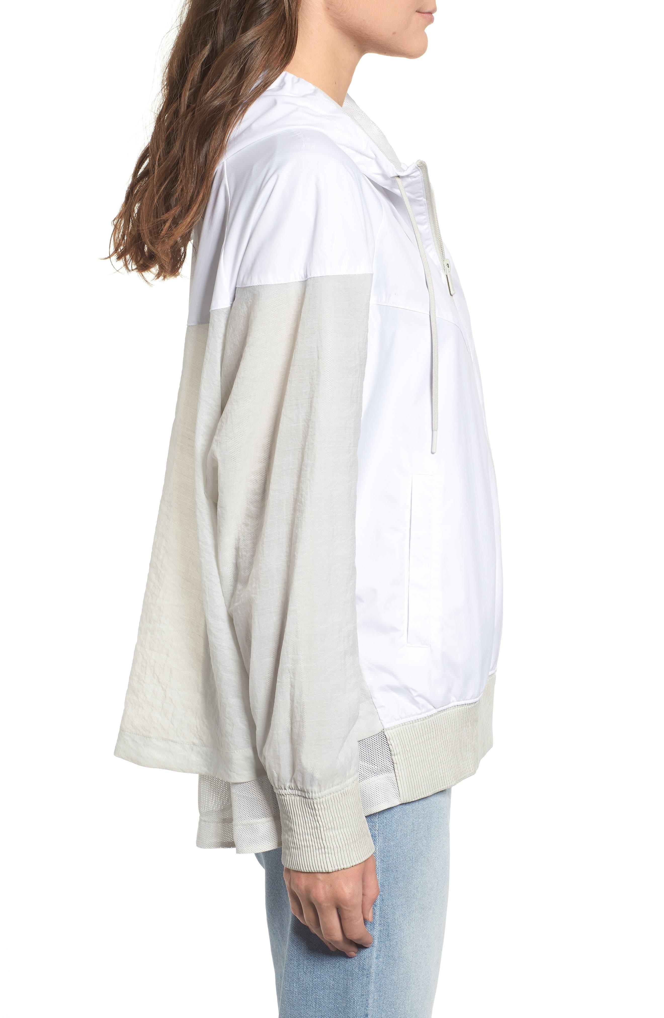 Sportswear Women's Windrunner Water Repellent Jacket,                             Alternate thumbnail 5, color,                             WHITE/ LIGHT BONE/ LIGHT BONE