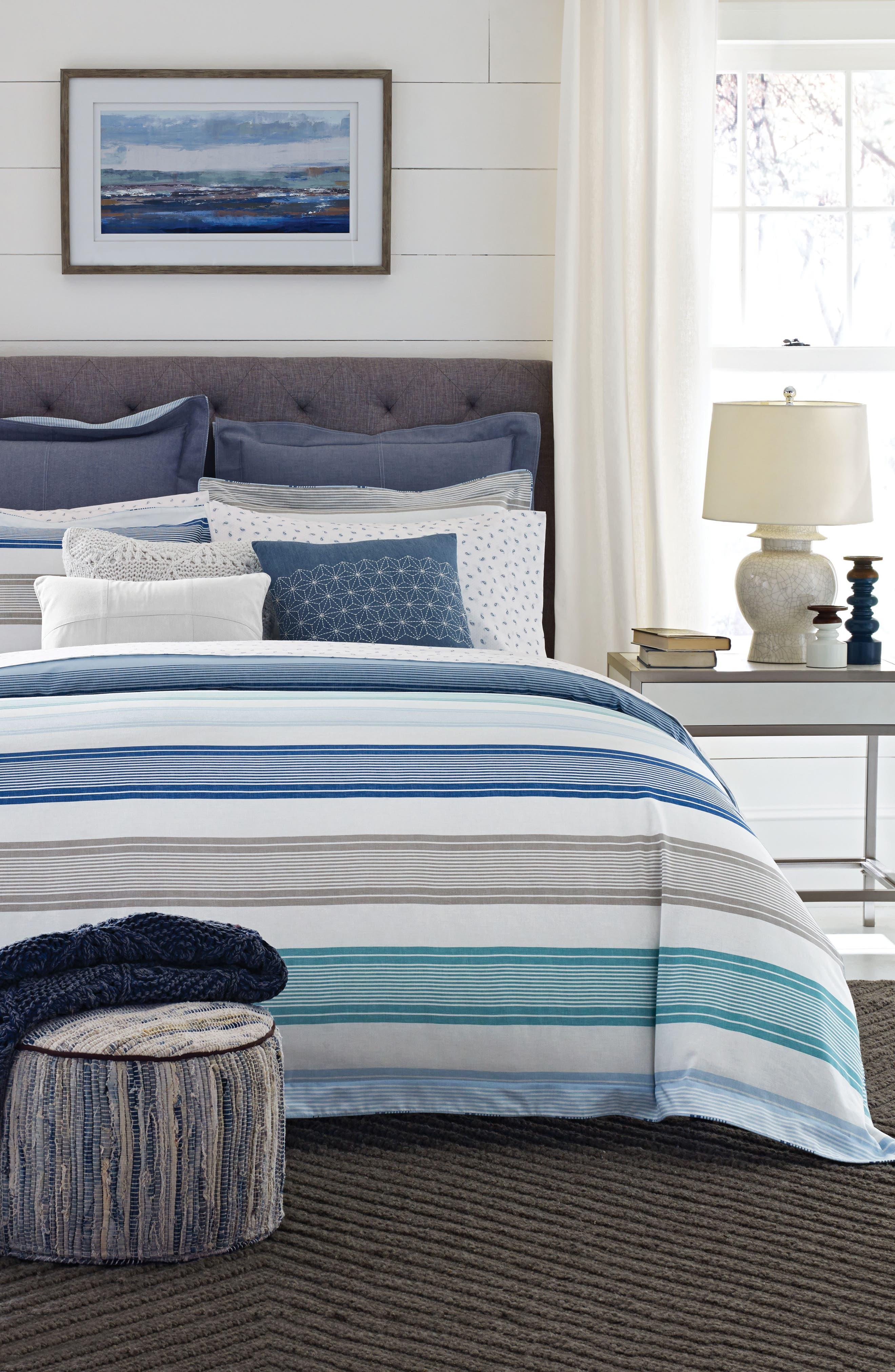 TOMMY HILFIGER,                             Westbourne Stripe Comforter & Sham Set,                             Main thumbnail 1, color,                             400