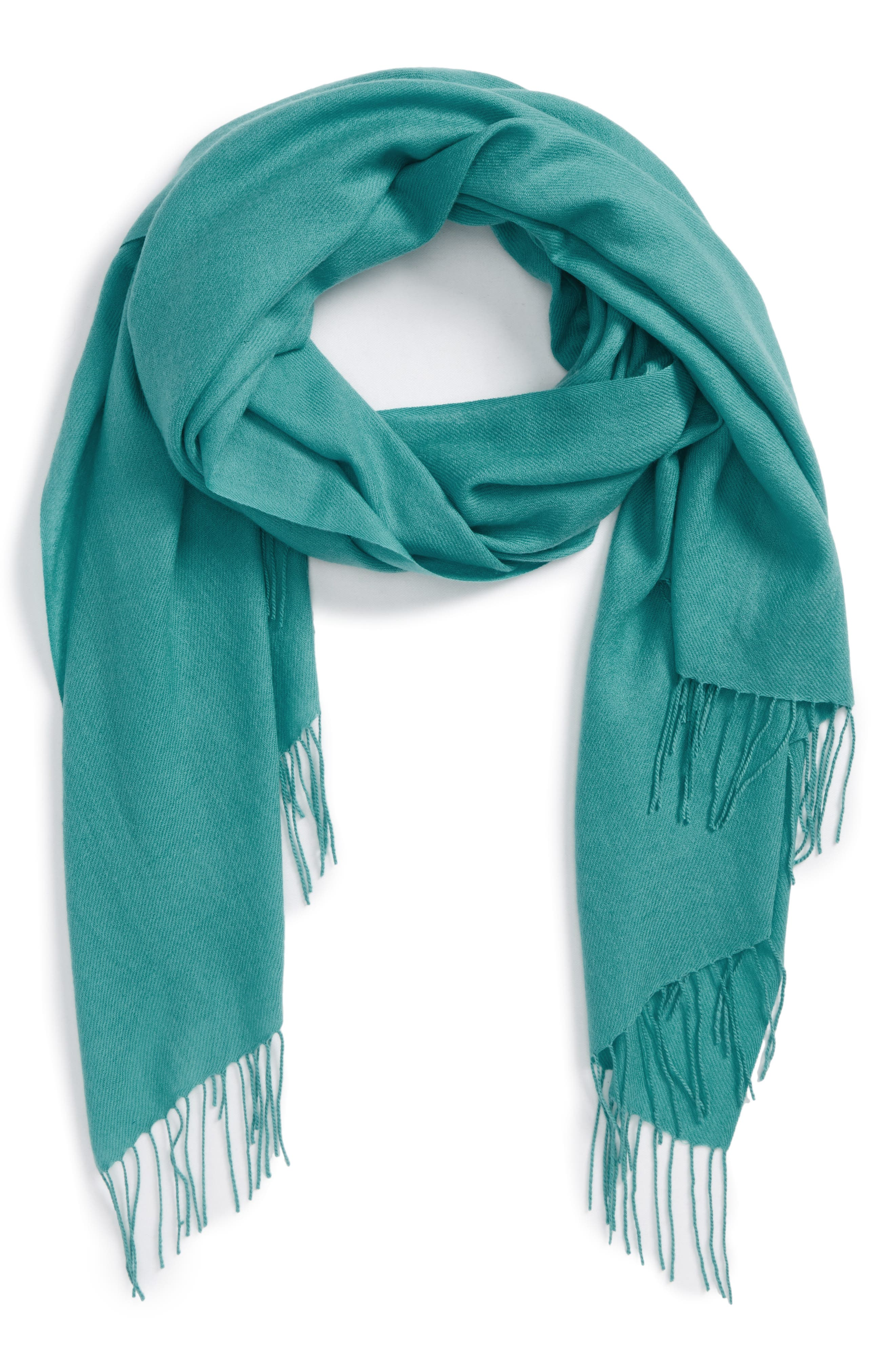 Tissue Weight Wool & Cashmere Scarf,                             Main thumbnail 4, color,