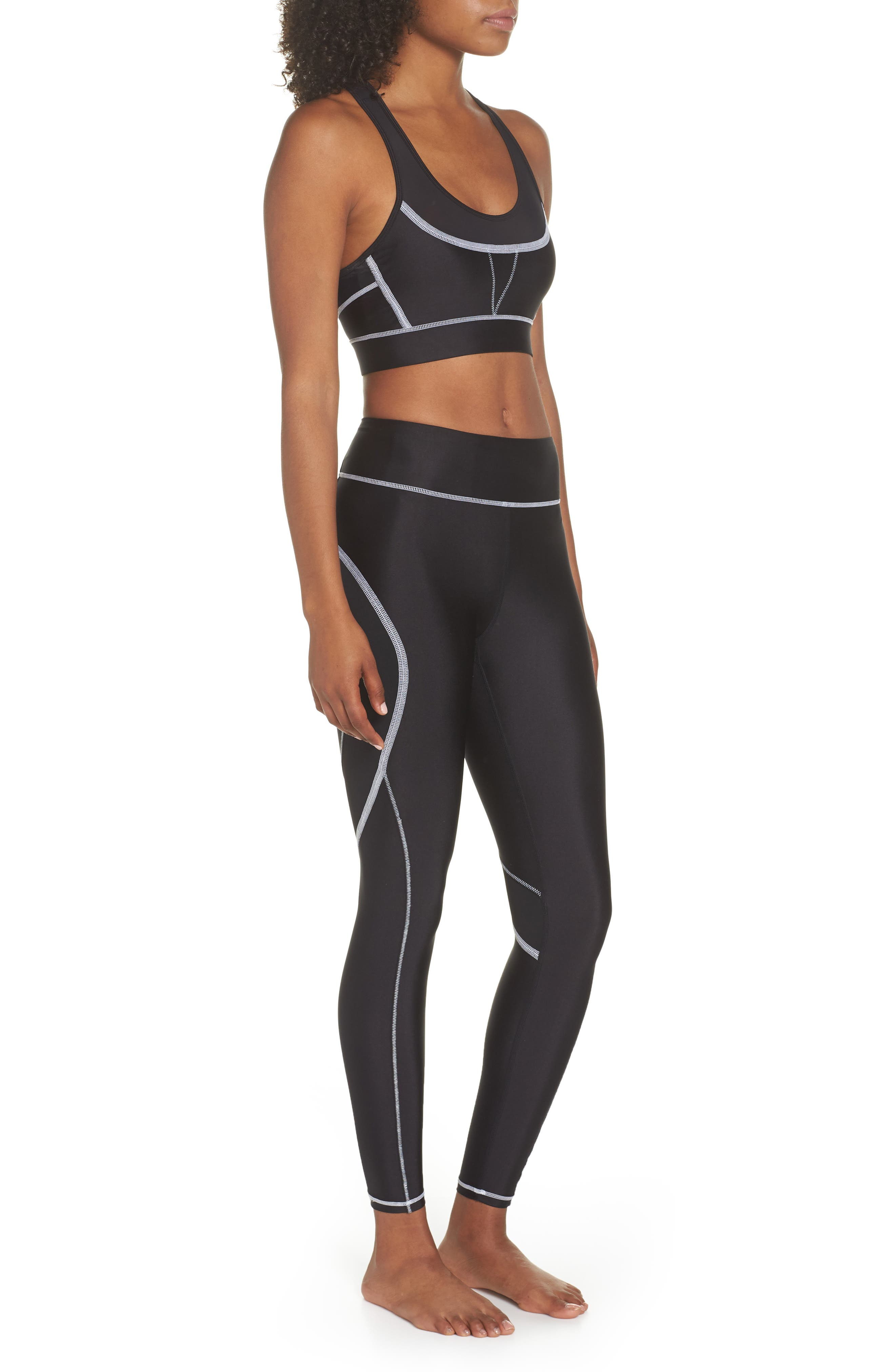 Surf Tights,                             Alternate thumbnail 10, color,                             BLACK/ WHITE