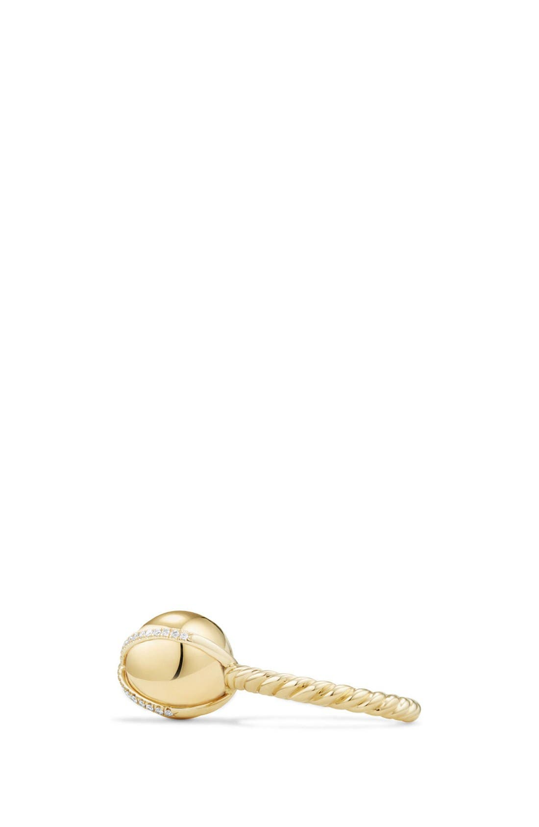 'Solari' Wrap Ring with Pavé Diamonds in 18k Gold,                             Alternate thumbnail 2, color,                             YELLOW GOLD