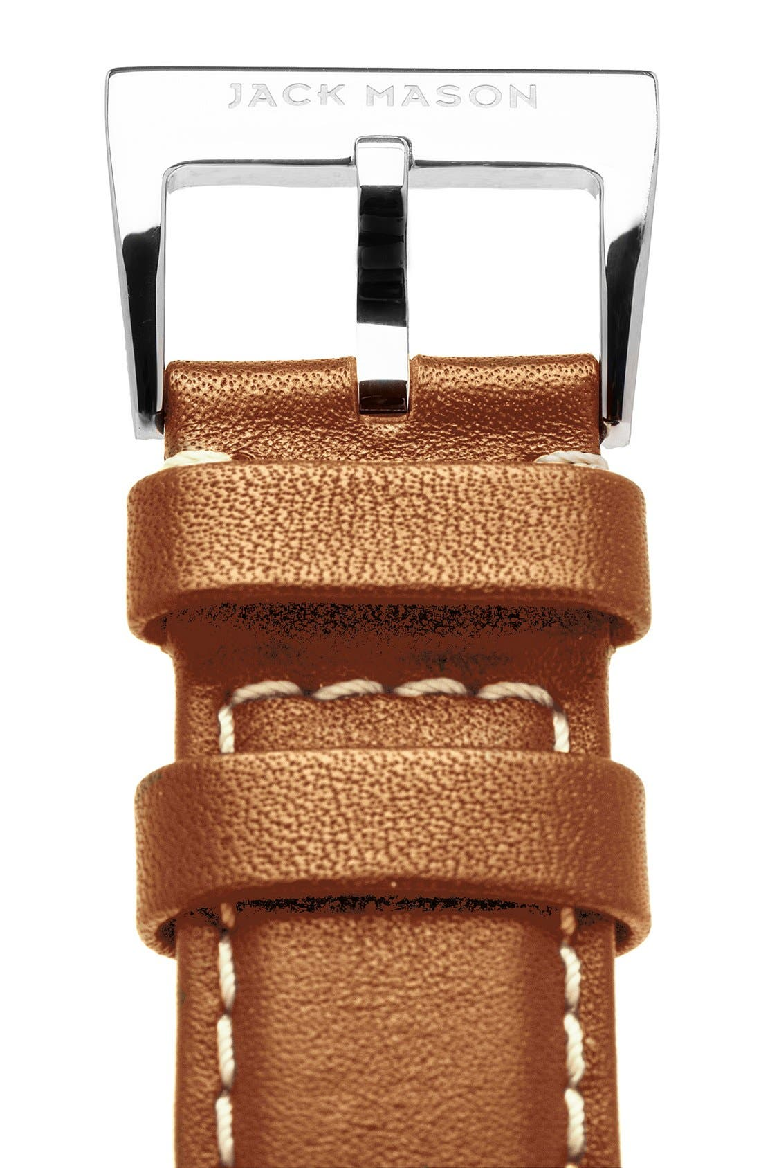 Leather Watch Strap, 22mm,                             Alternate thumbnail 2, color,                             TAN