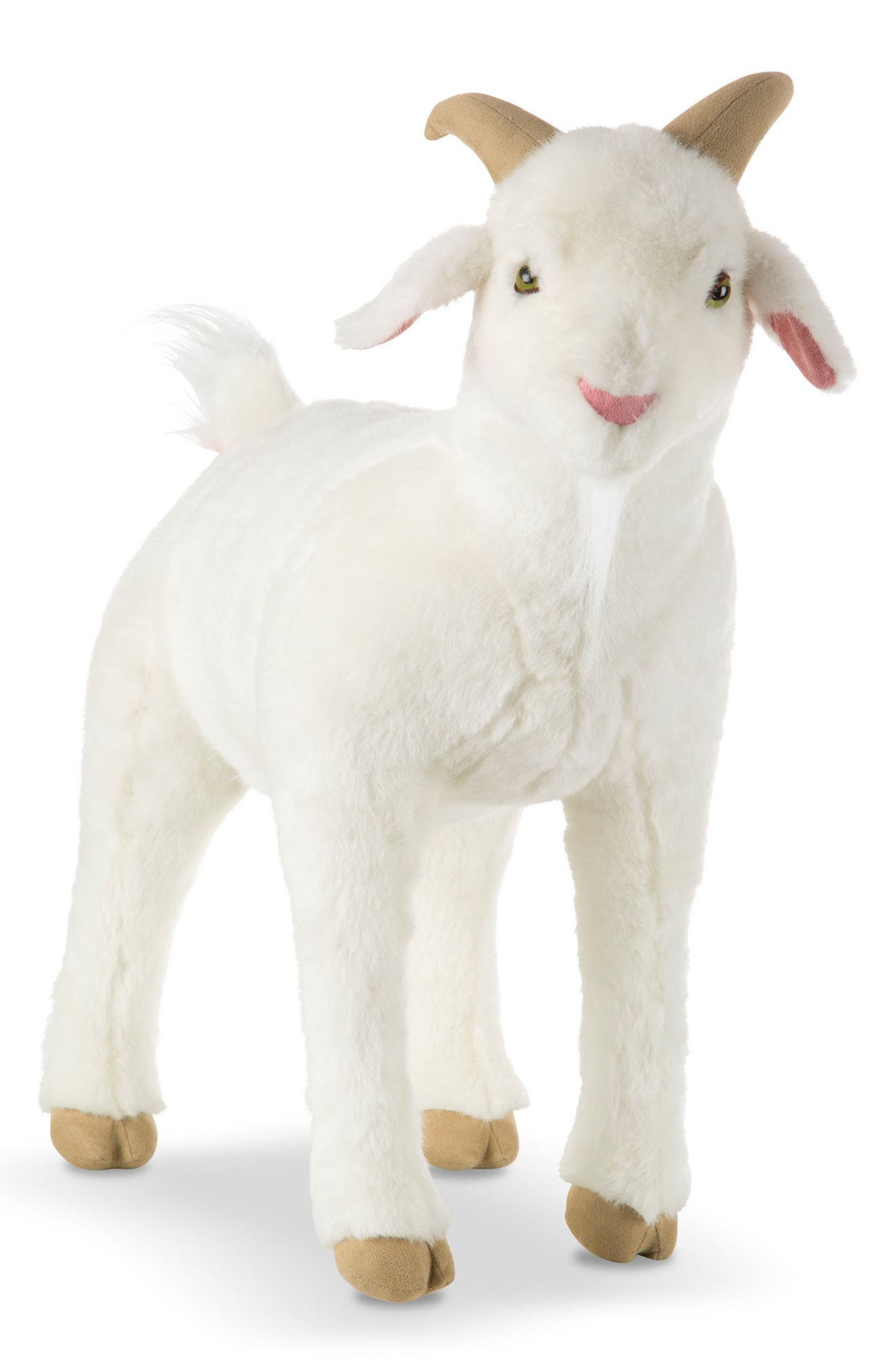 Giant Goat Plush Toy,                             Main thumbnail 1, color,                             WHITE MULTI