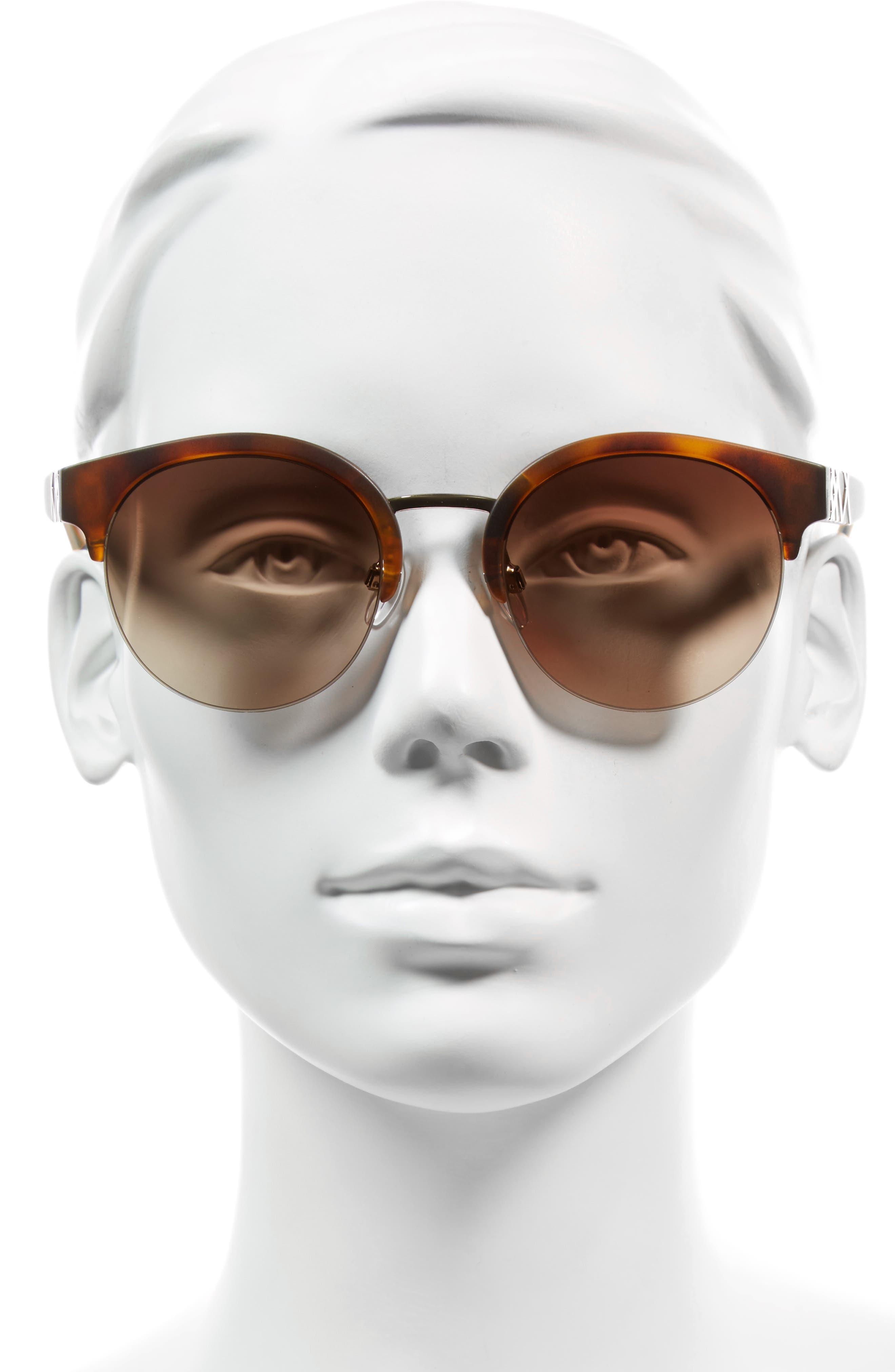 52mm Gradient Semi Rimless Sunglasses,                             Alternate thumbnail 5, color,