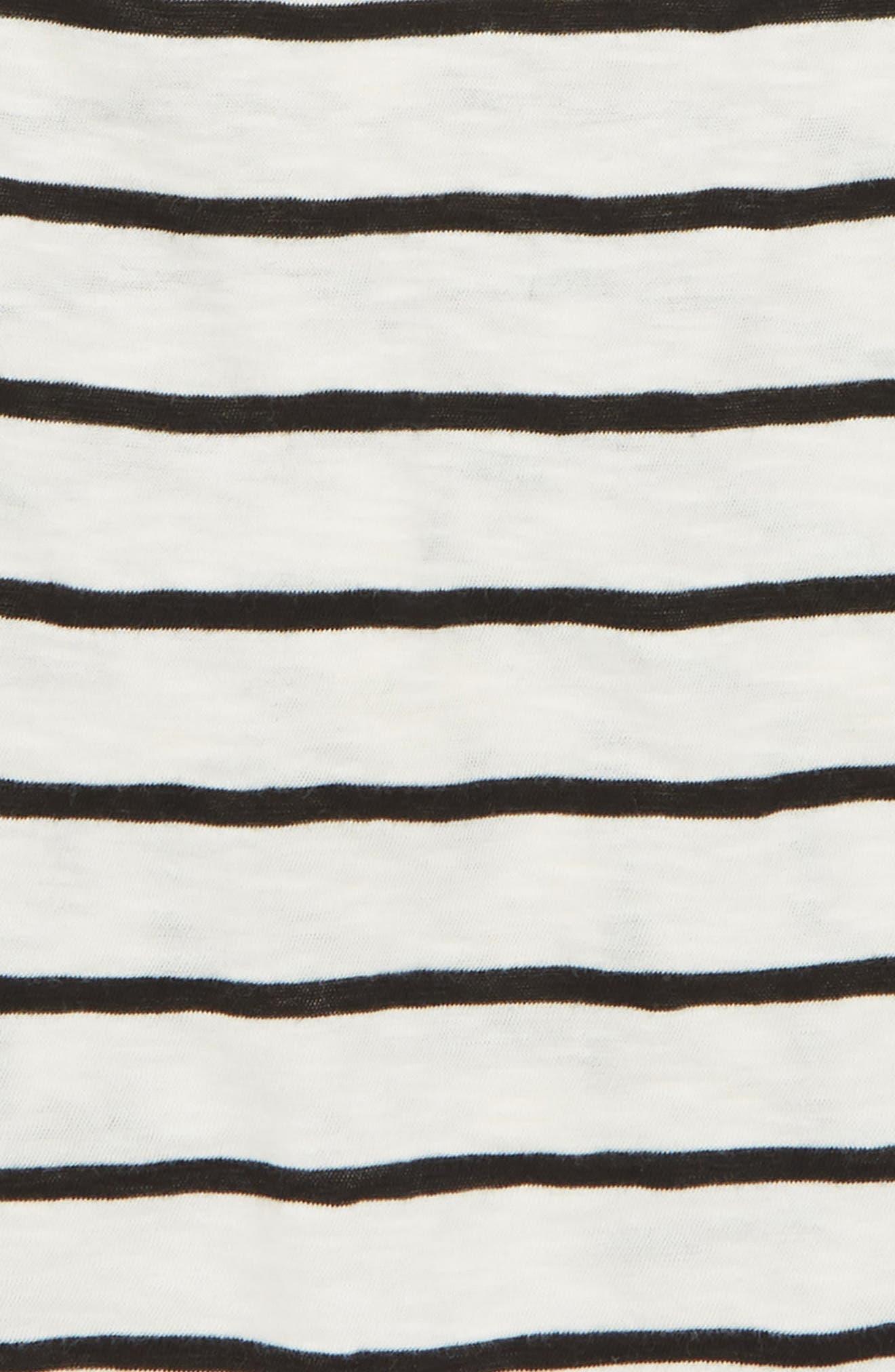 Knot Back Knit Tank,                             Alternate thumbnail 3, color,                             IVORY EGRET- BLACK STRIPE