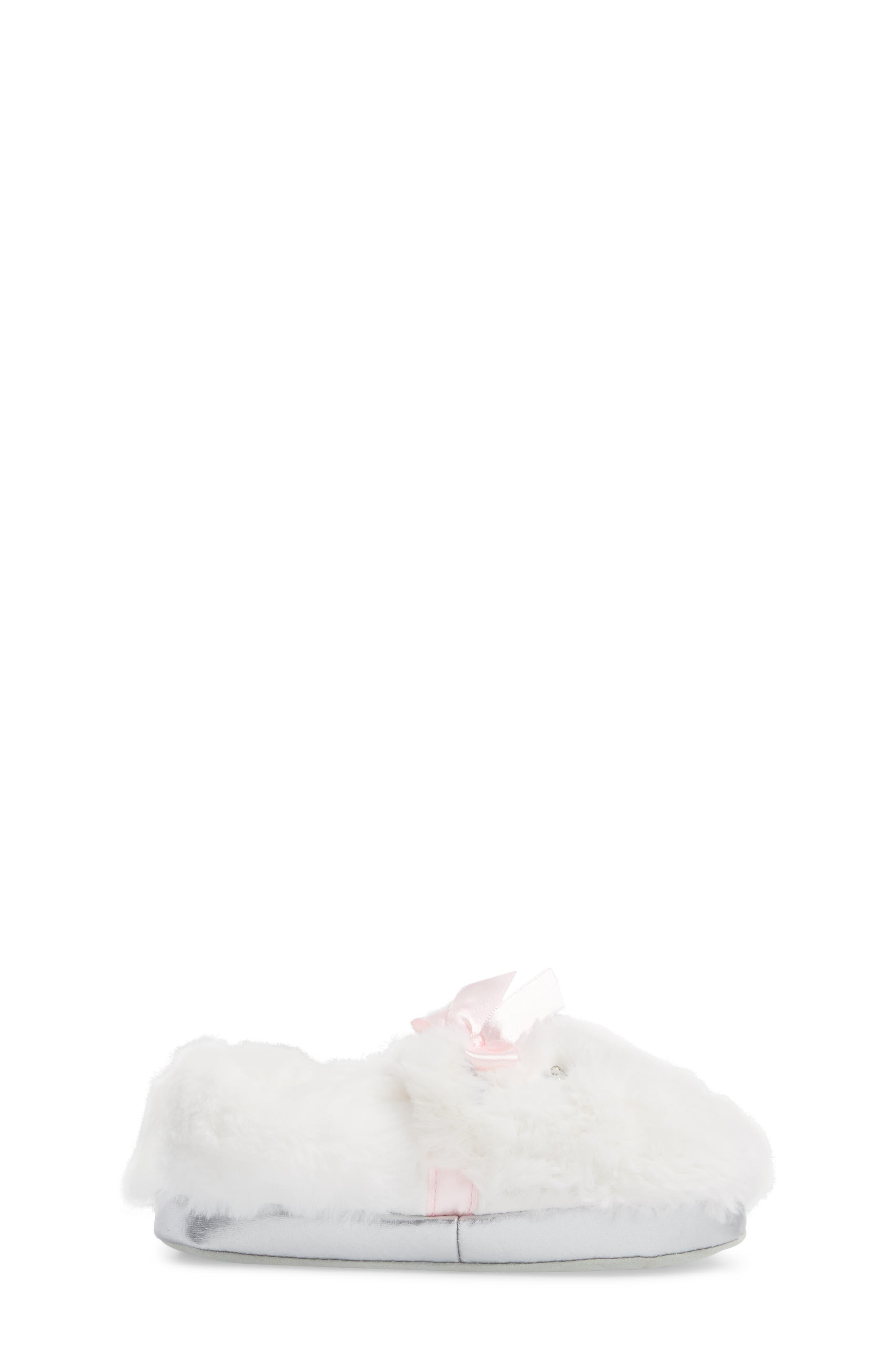 Light-Up Faux Fur Polar Bear Slipper,                             Alternate thumbnail 3, color,