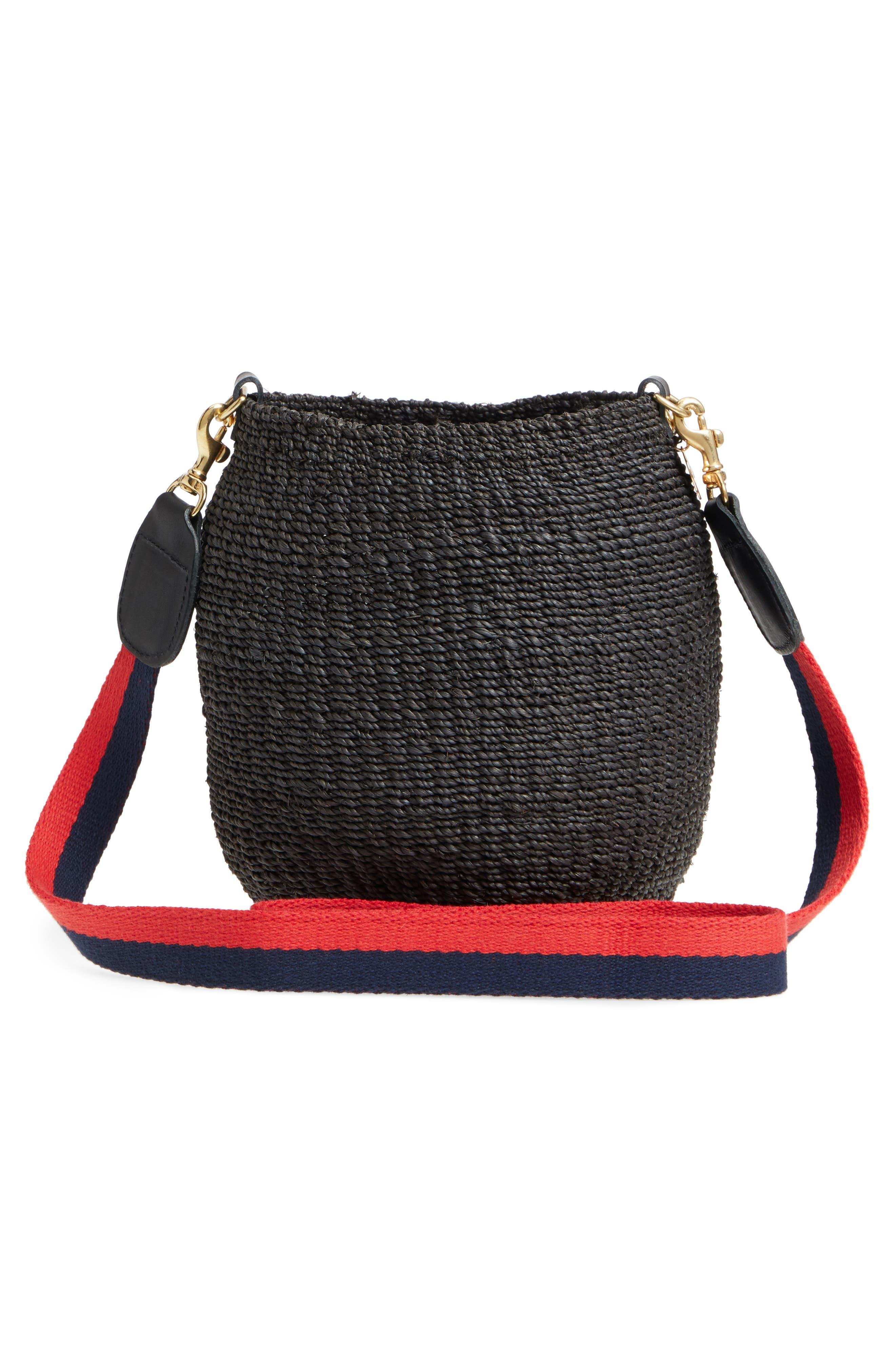 Pot de Miel Top Handle Straw Basket Bag,                             Alternate thumbnail 4, color,                             001