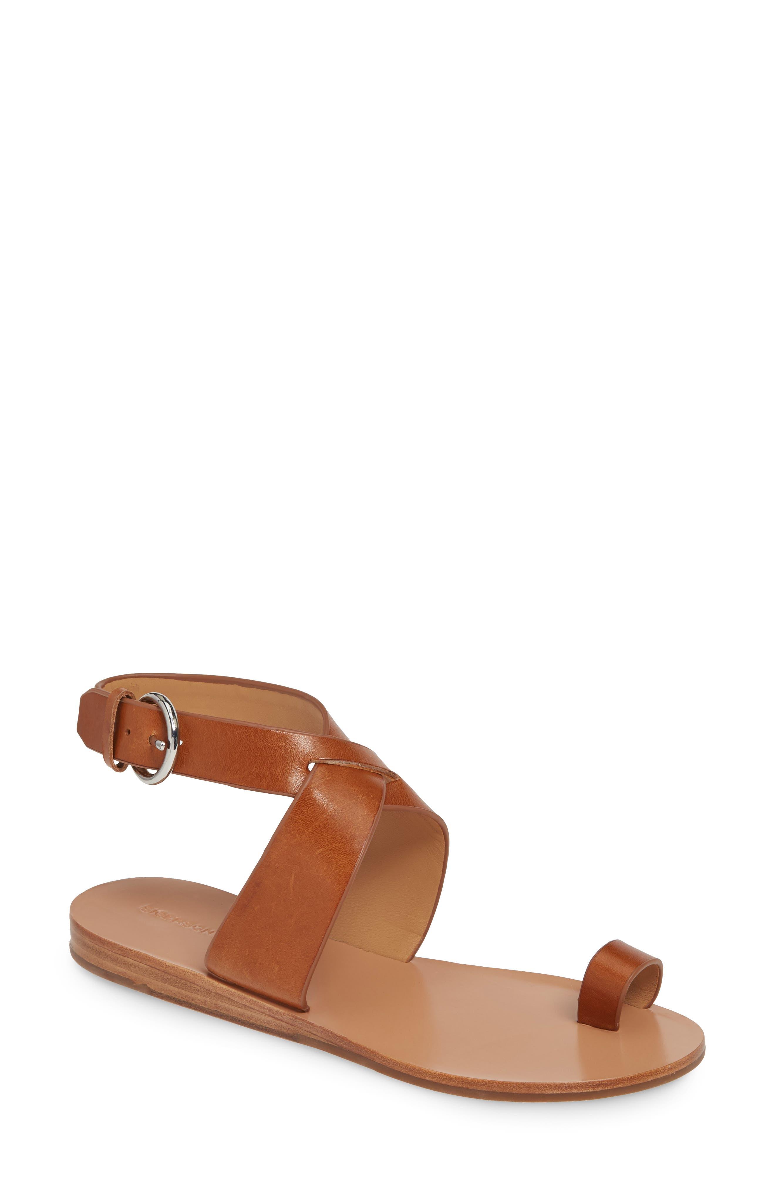 Sigerson Morrison Kyra Toe Loop Sandal, 7. - Brown