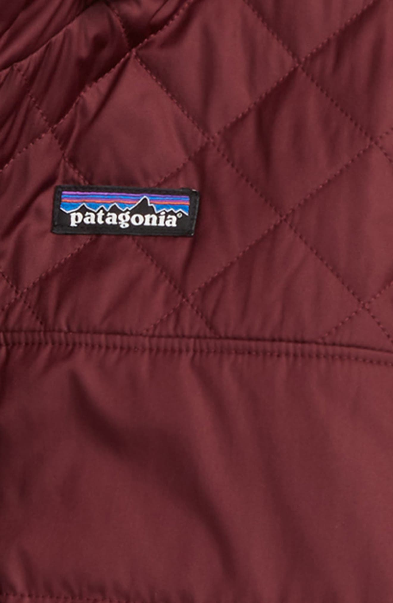 Dream Song Water Repellent Reversible Jacket,                             Alternate thumbnail 3, color,                             DARK CURRANT