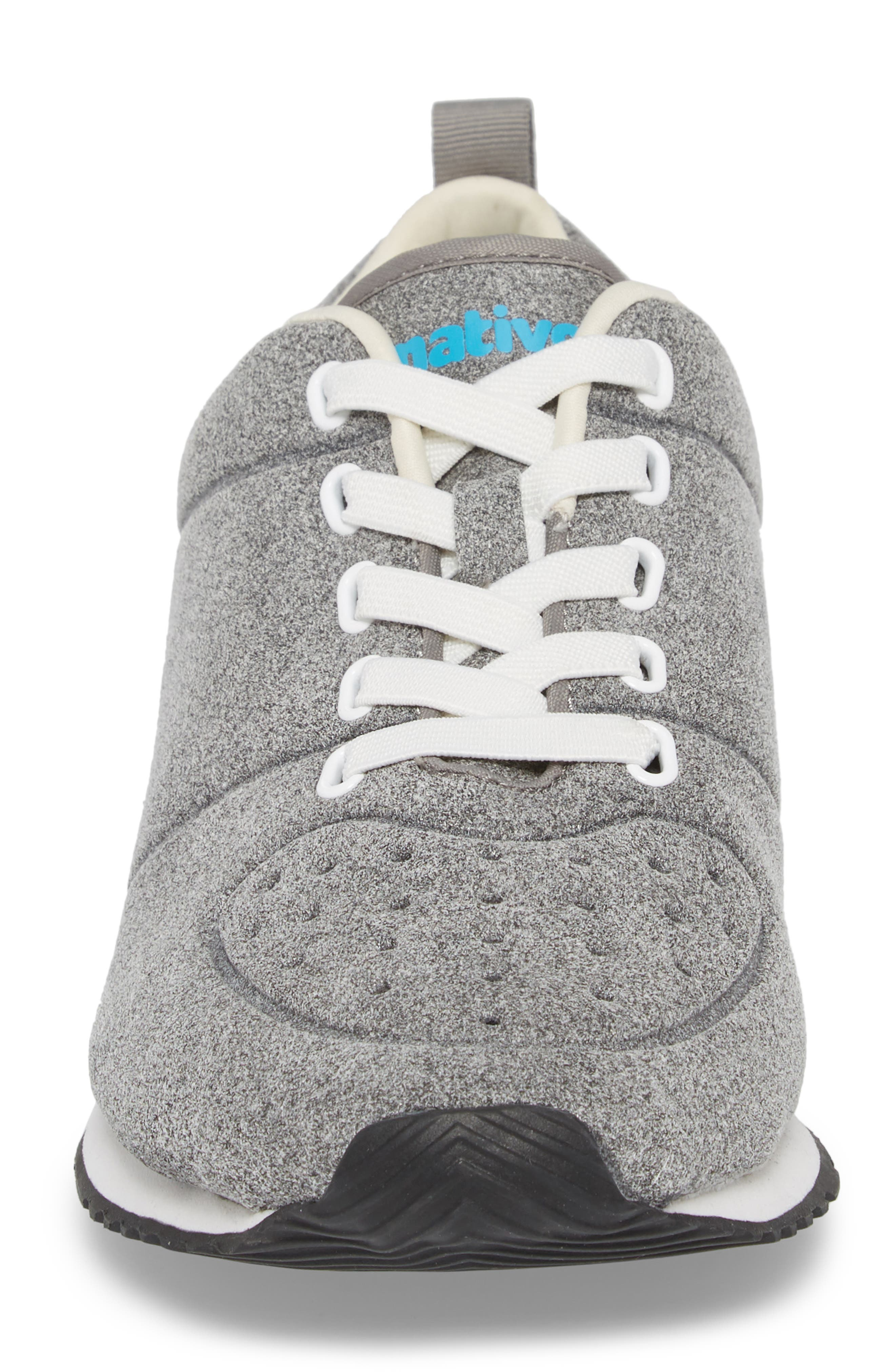 Cornell Perforated Sneaker,                             Alternate thumbnail 4, color,                             PIGEON GREY/ SHELL WHITE