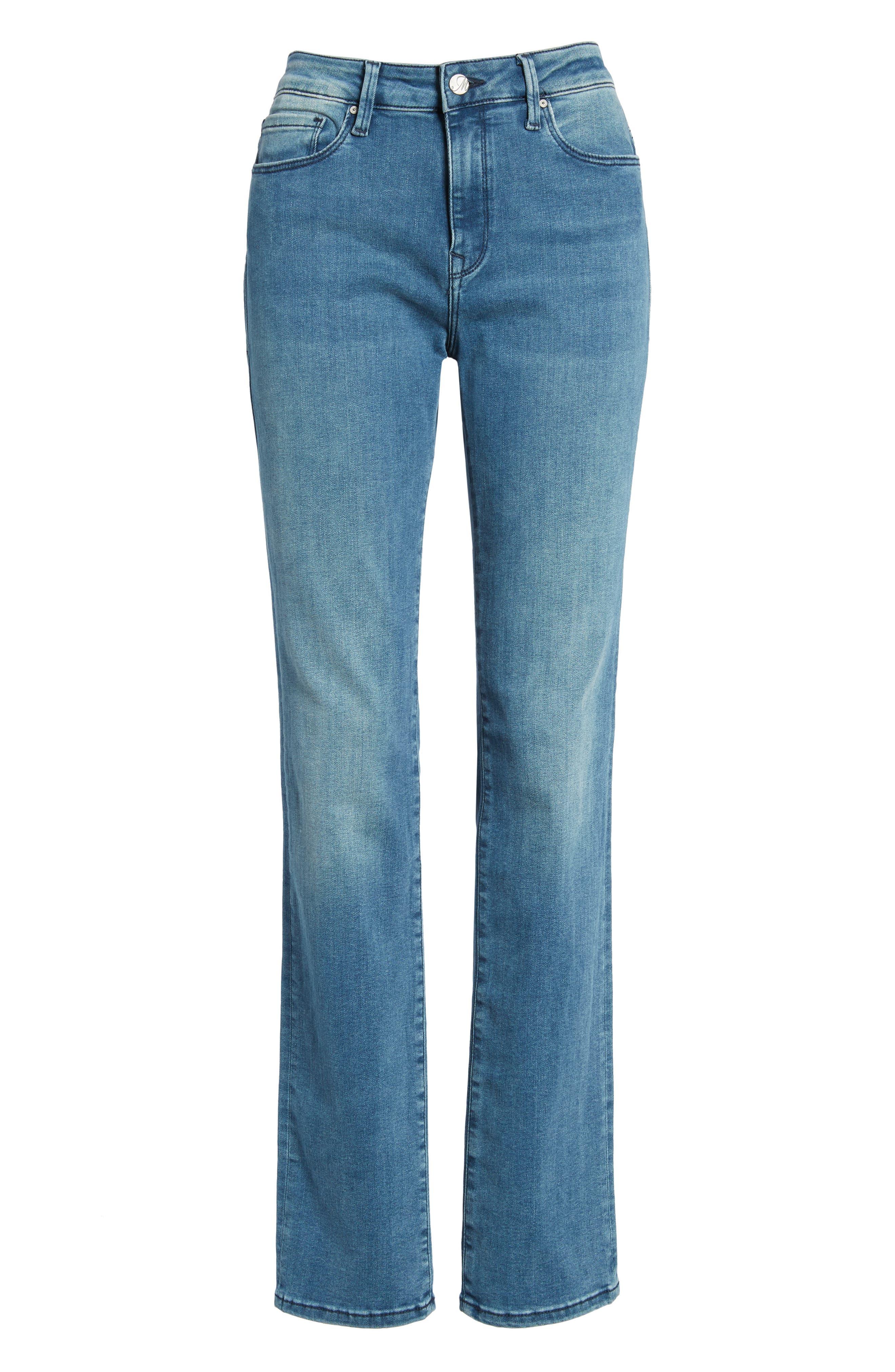 Kendra High Waist Straight Leg Jeans,                             Alternate thumbnail 6, color,                             420