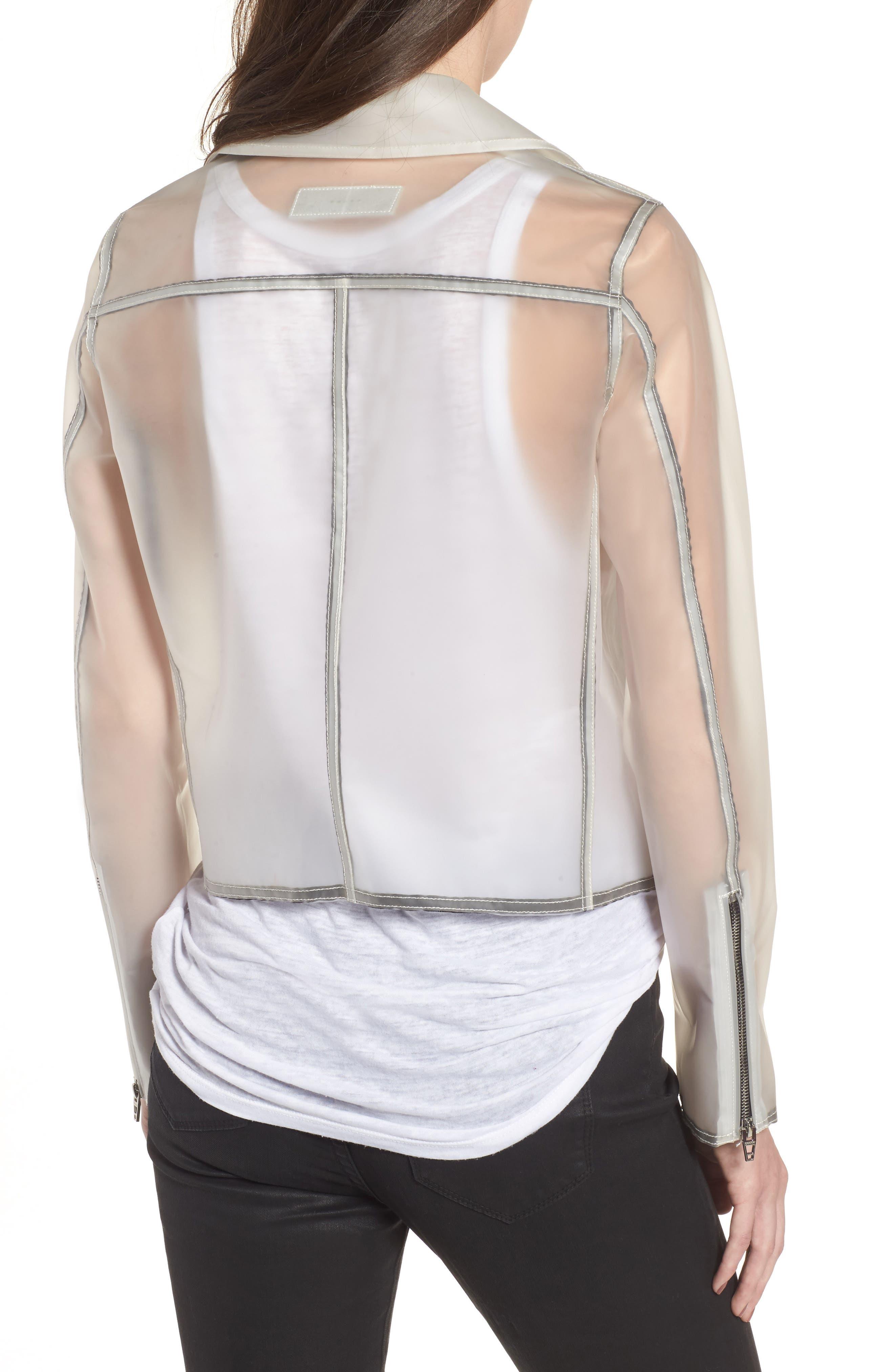 Plastic Moto Jacket,                             Alternate thumbnail 2, color,                             100