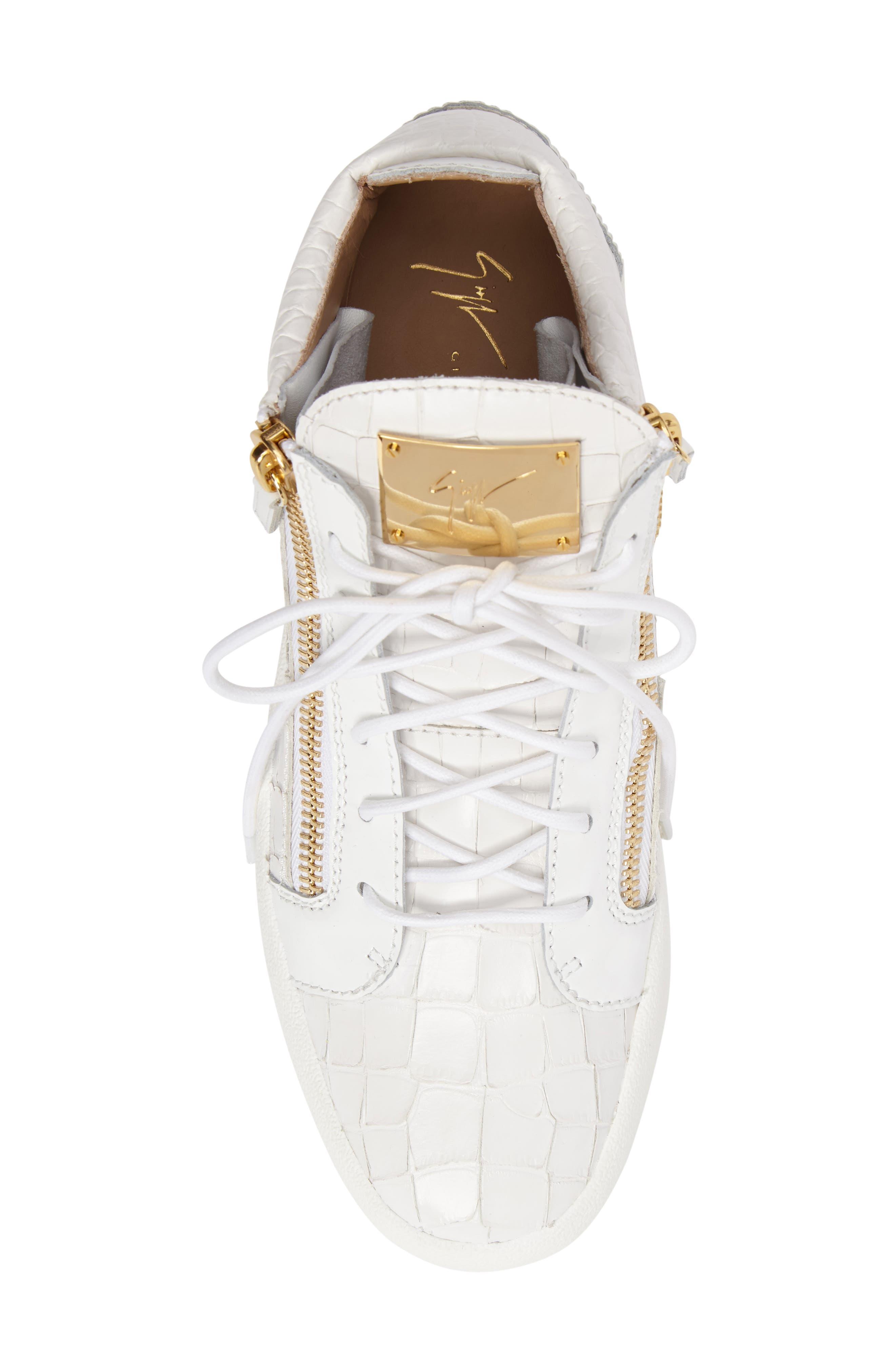 Mid Top Sneaker,                             Alternate thumbnail 5, color,                             WHITE