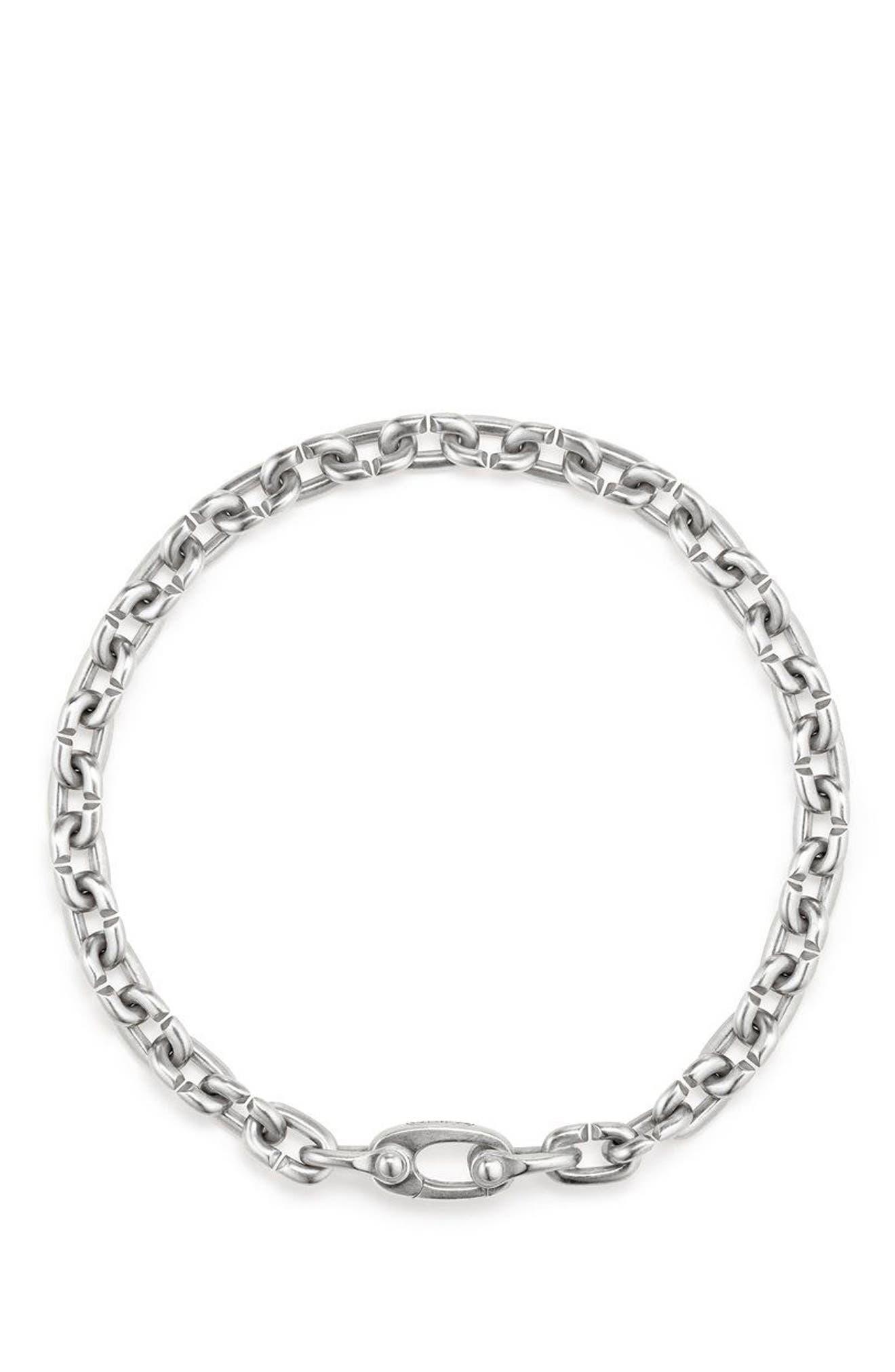 Narrow Chain Link Bracelet,                             Alternate thumbnail 2, color,                             SILVER