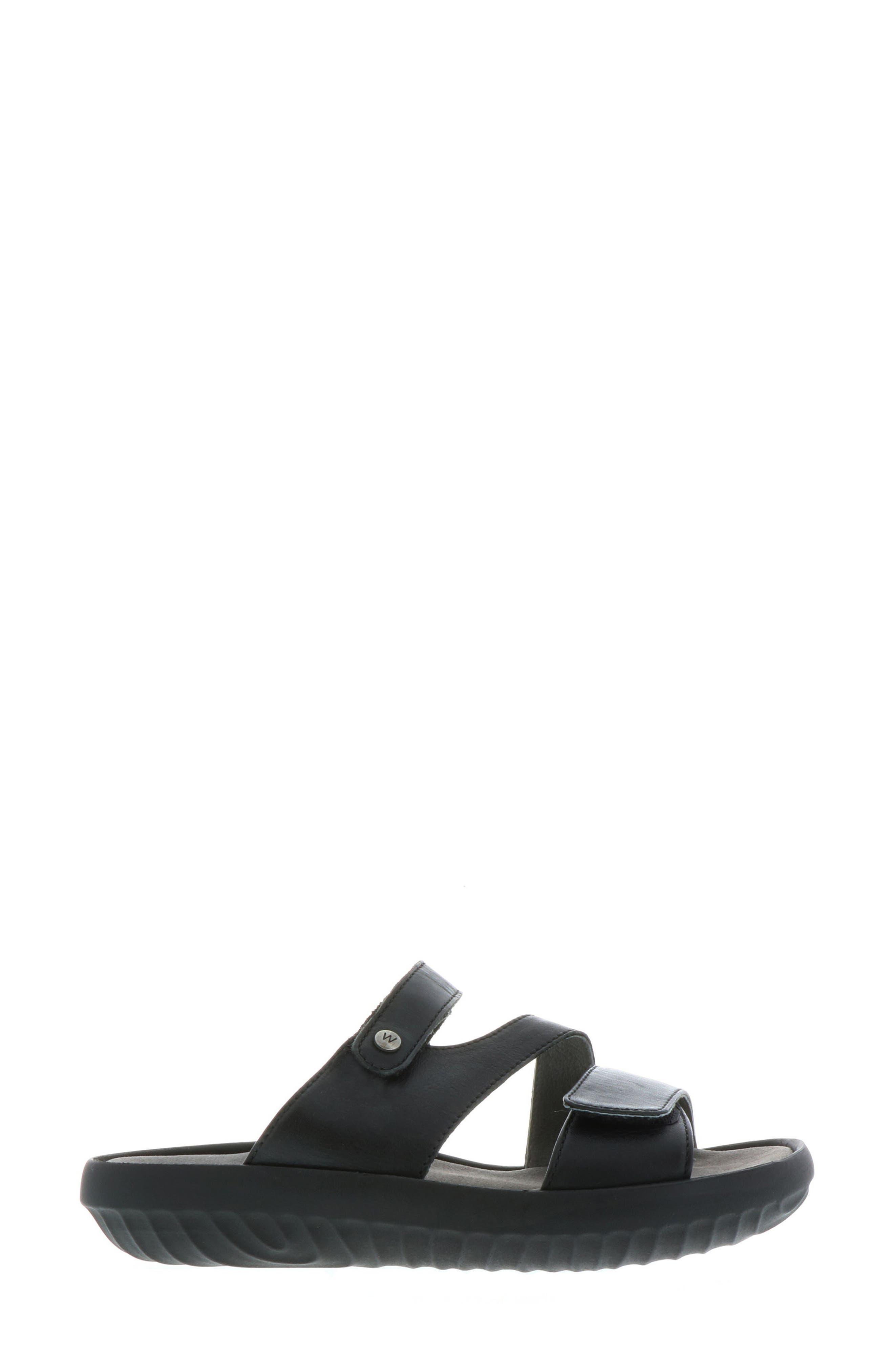 Sense Slide Sandal,                             Alternate thumbnail 3, color,                             BLACK