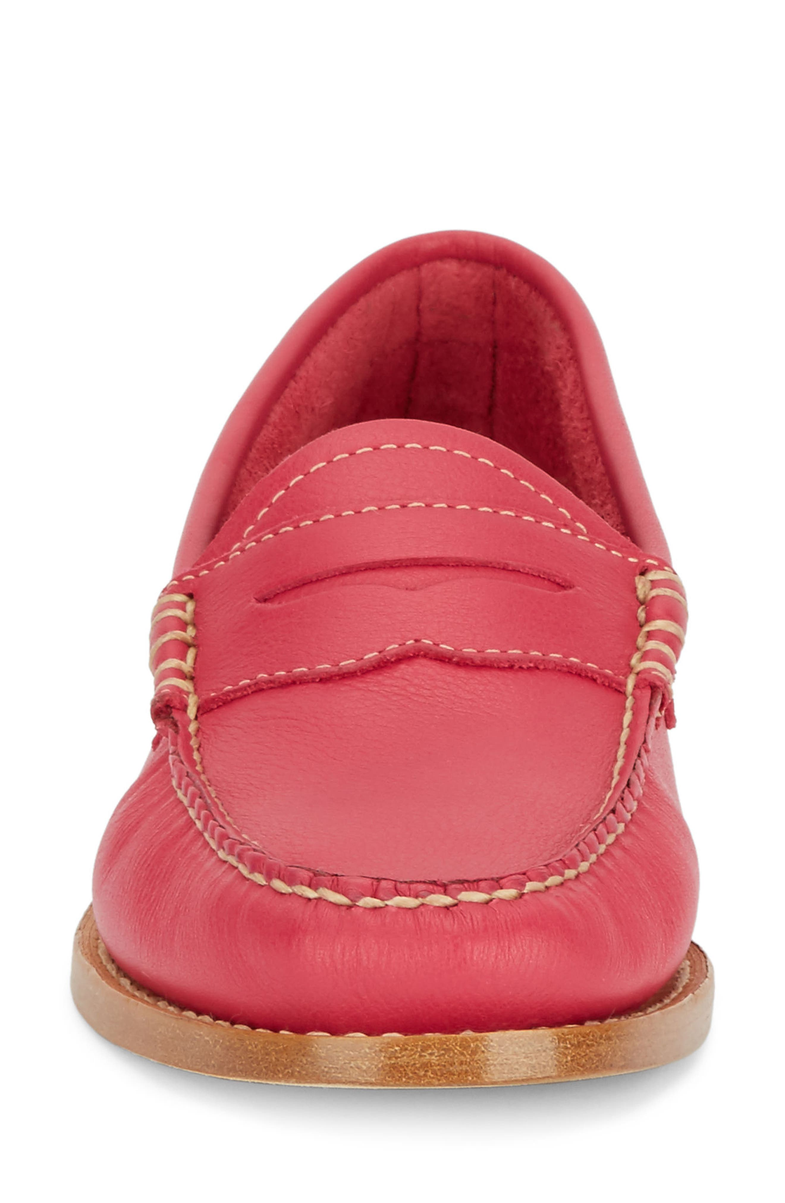 'Whitney' Loafer,                             Alternate thumbnail 4, color,                             BERRY PINK LEATHER
