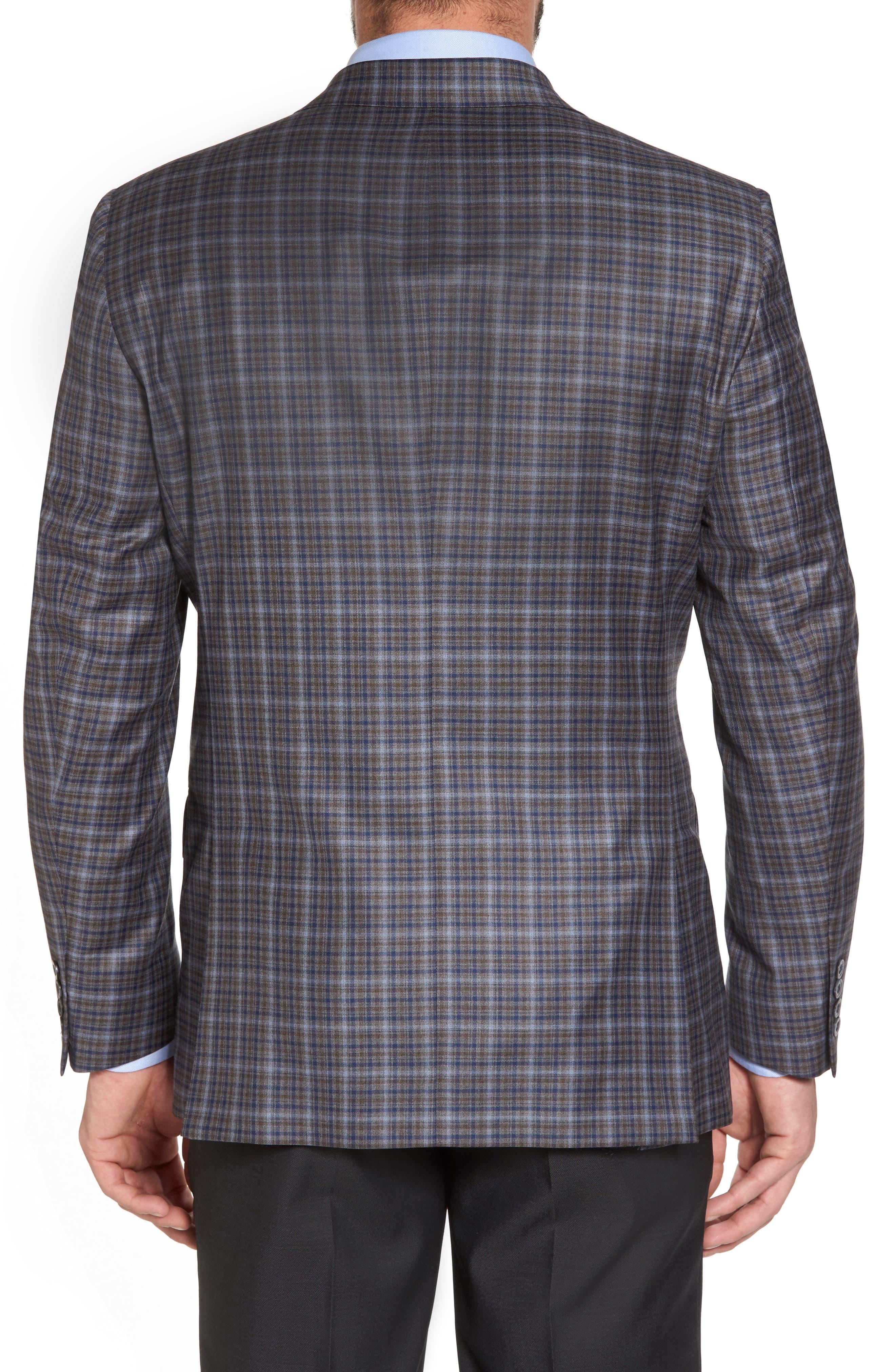 Classic Fit Plaid Wool Sport Coat,                             Alternate thumbnail 2, color,                             280
