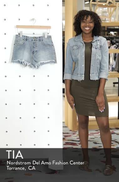 Shoreline Fray Hem Denim Shorts, sales video thumbnail