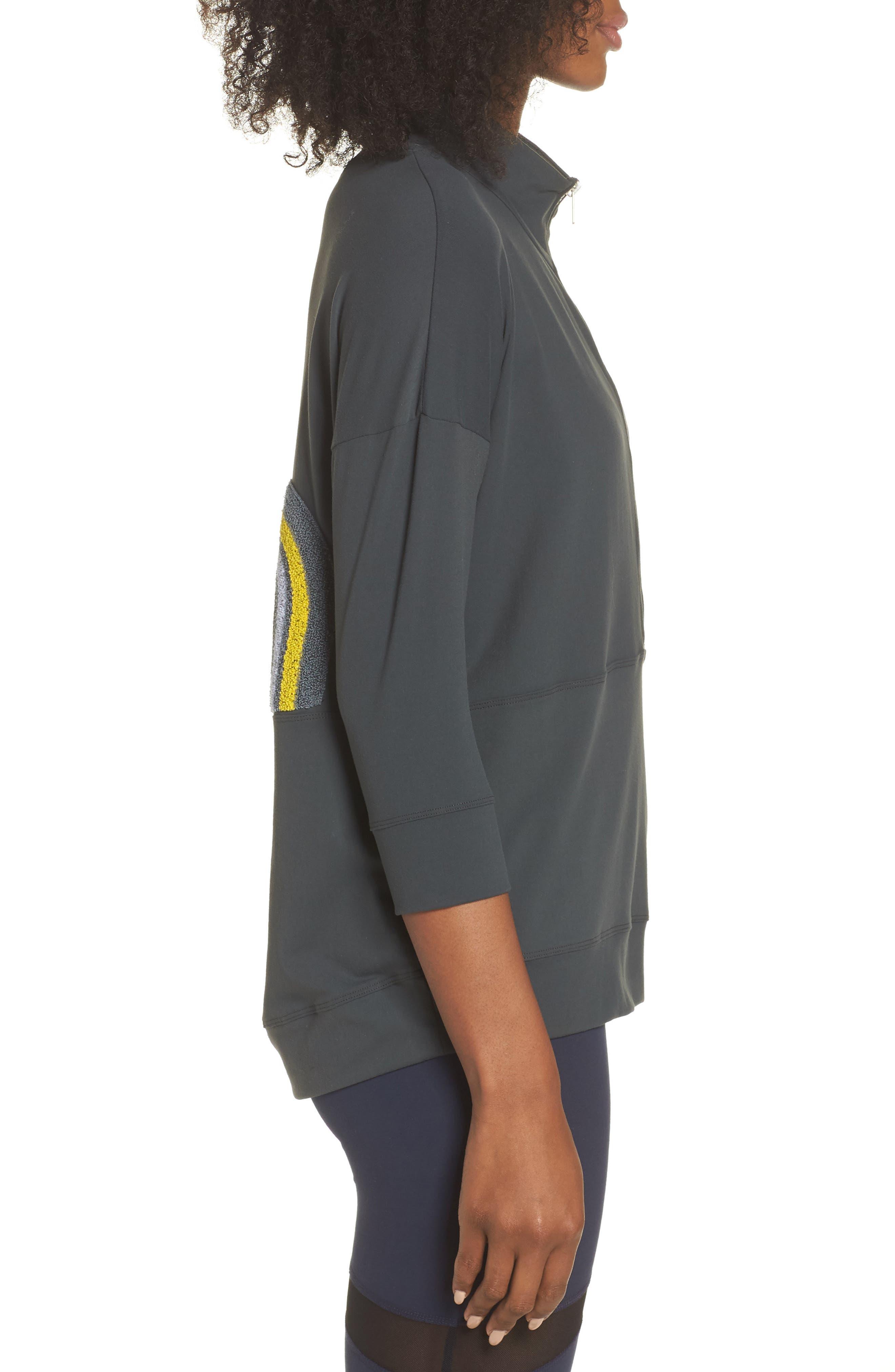 BoomBoom Athletica Novelty Eye Sweatshirt,                             Alternate thumbnail 3, color,                             020