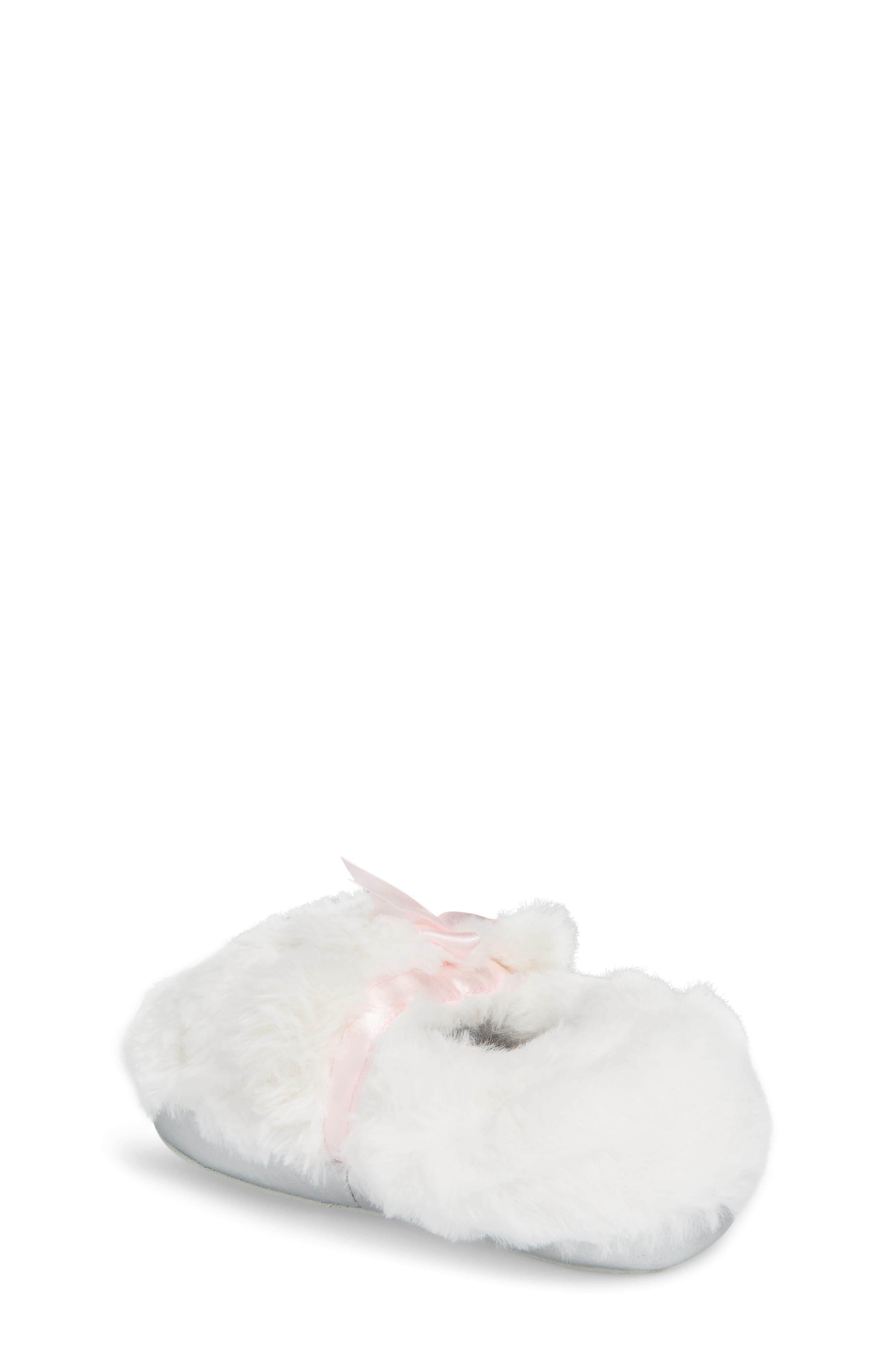 Light-Up Faux Fur Polar Bear Slipper,                             Alternate thumbnail 2, color,