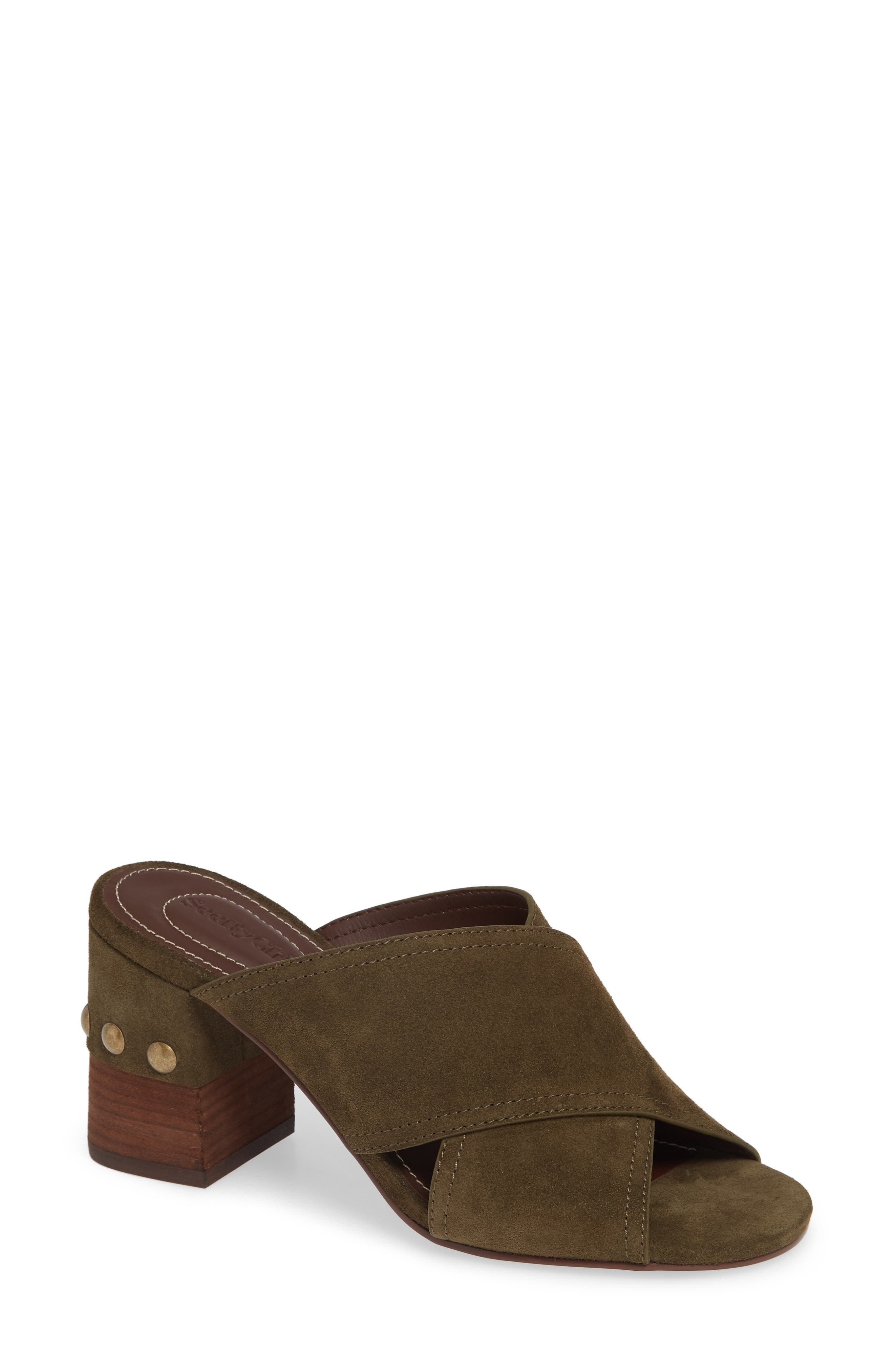 See By Chloe Marta Suede Slide, Green