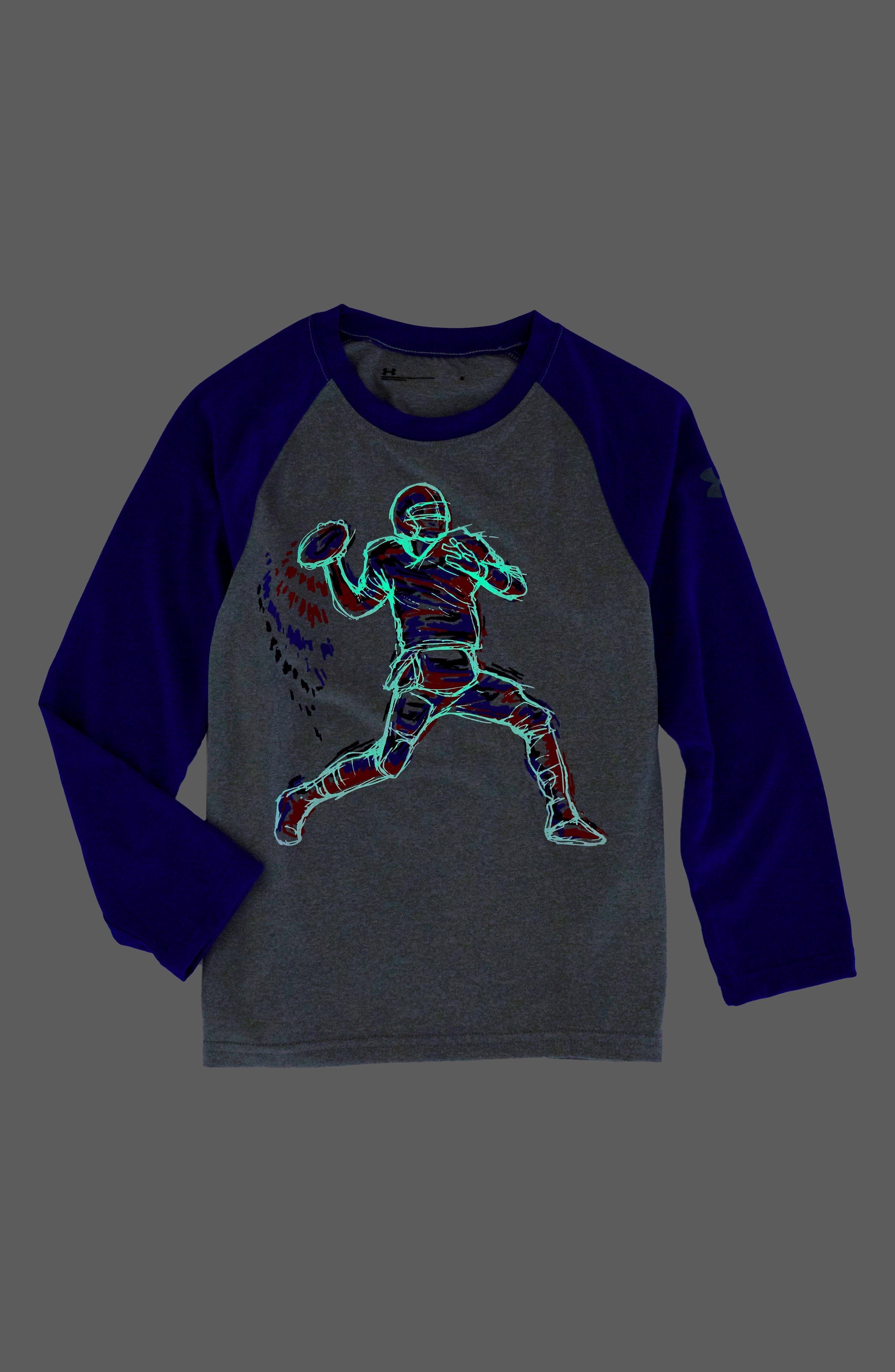 Illuminated QB Glow in the Dark T-Shirt,                             Alternate thumbnail 2, color,                             020