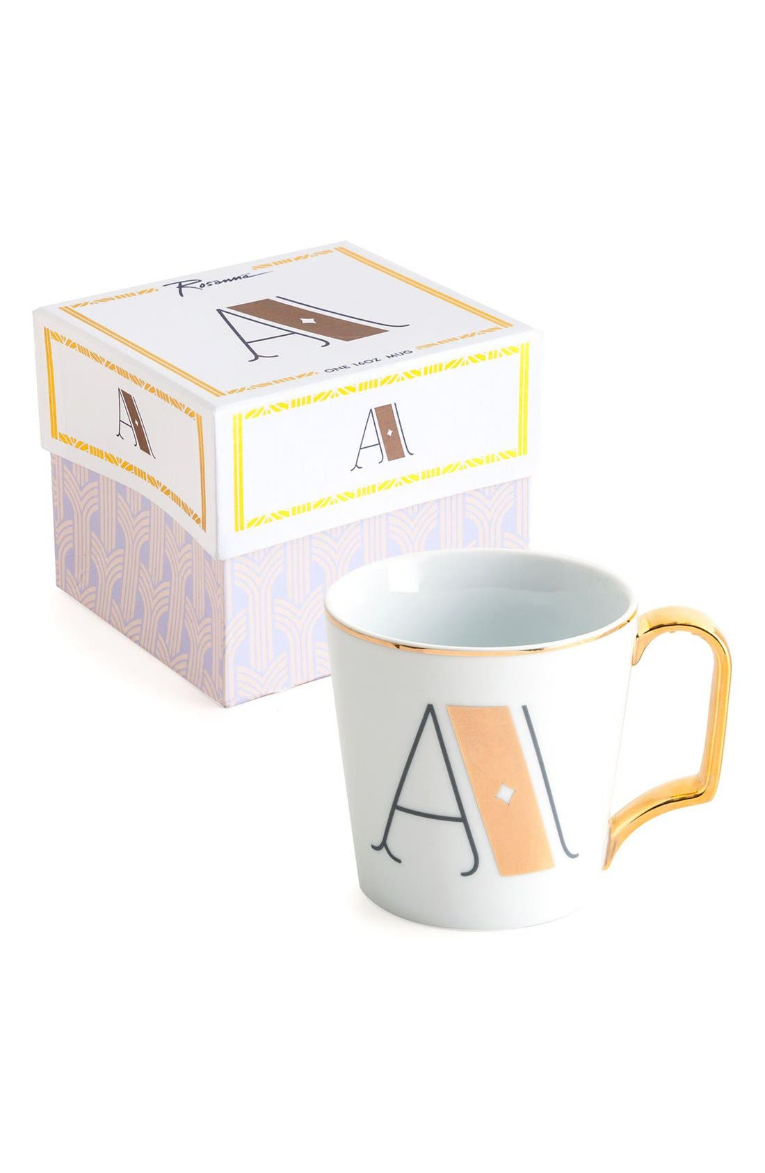 Monogram Porcelain Coffee Mug,                             Main thumbnail 2, color,