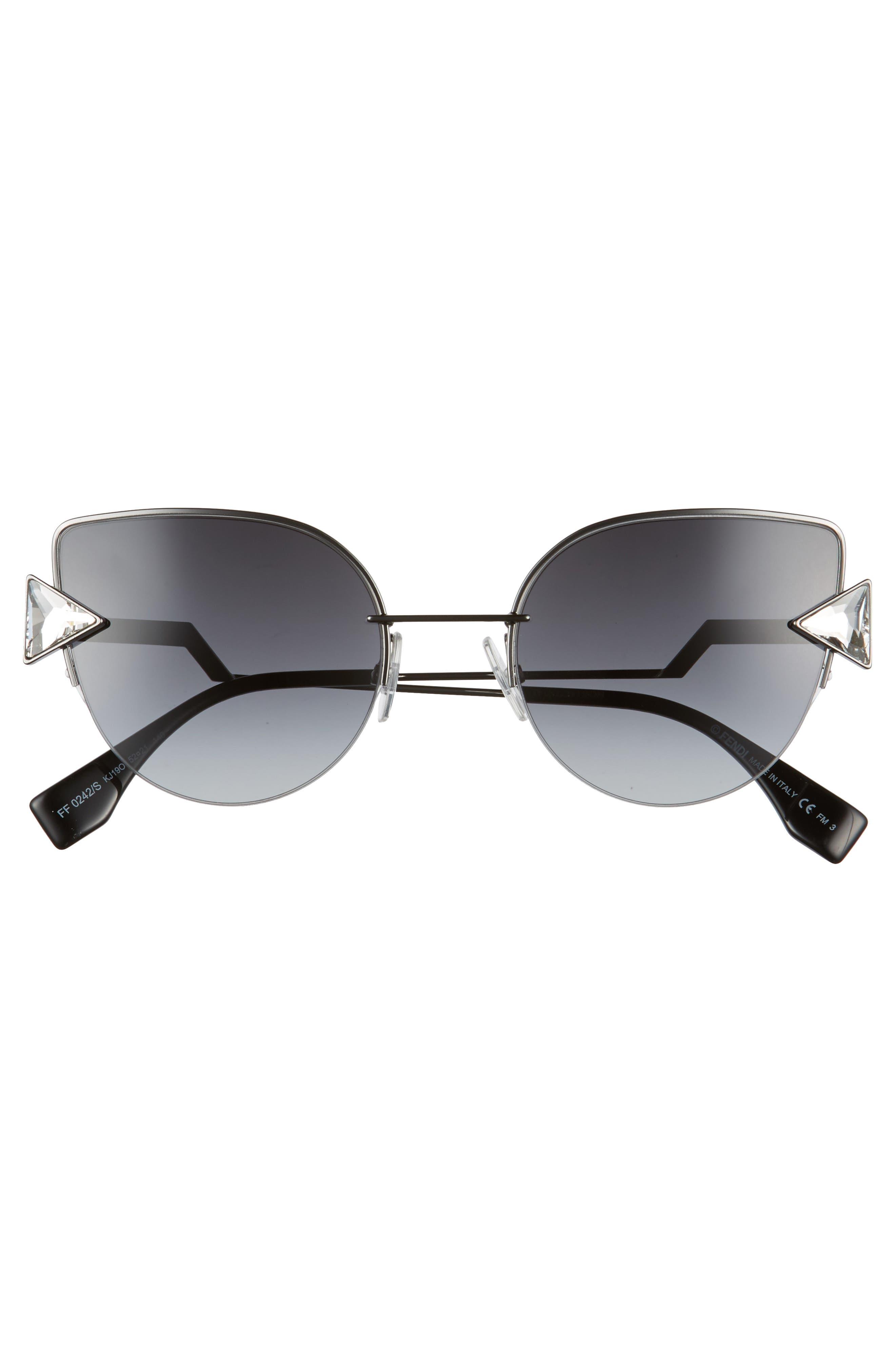 Rainbow 52mm Semi-Rimless Sunglasses,                             Alternate thumbnail 3, color,                             040