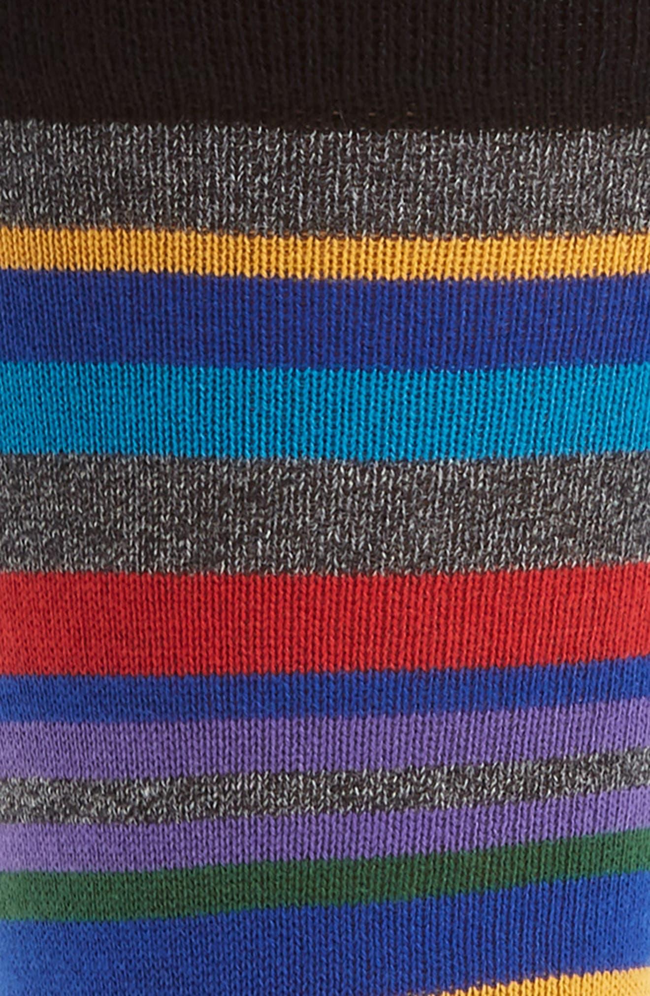 Aster Stripe Socks,                             Alternate thumbnail 2, color,                             001